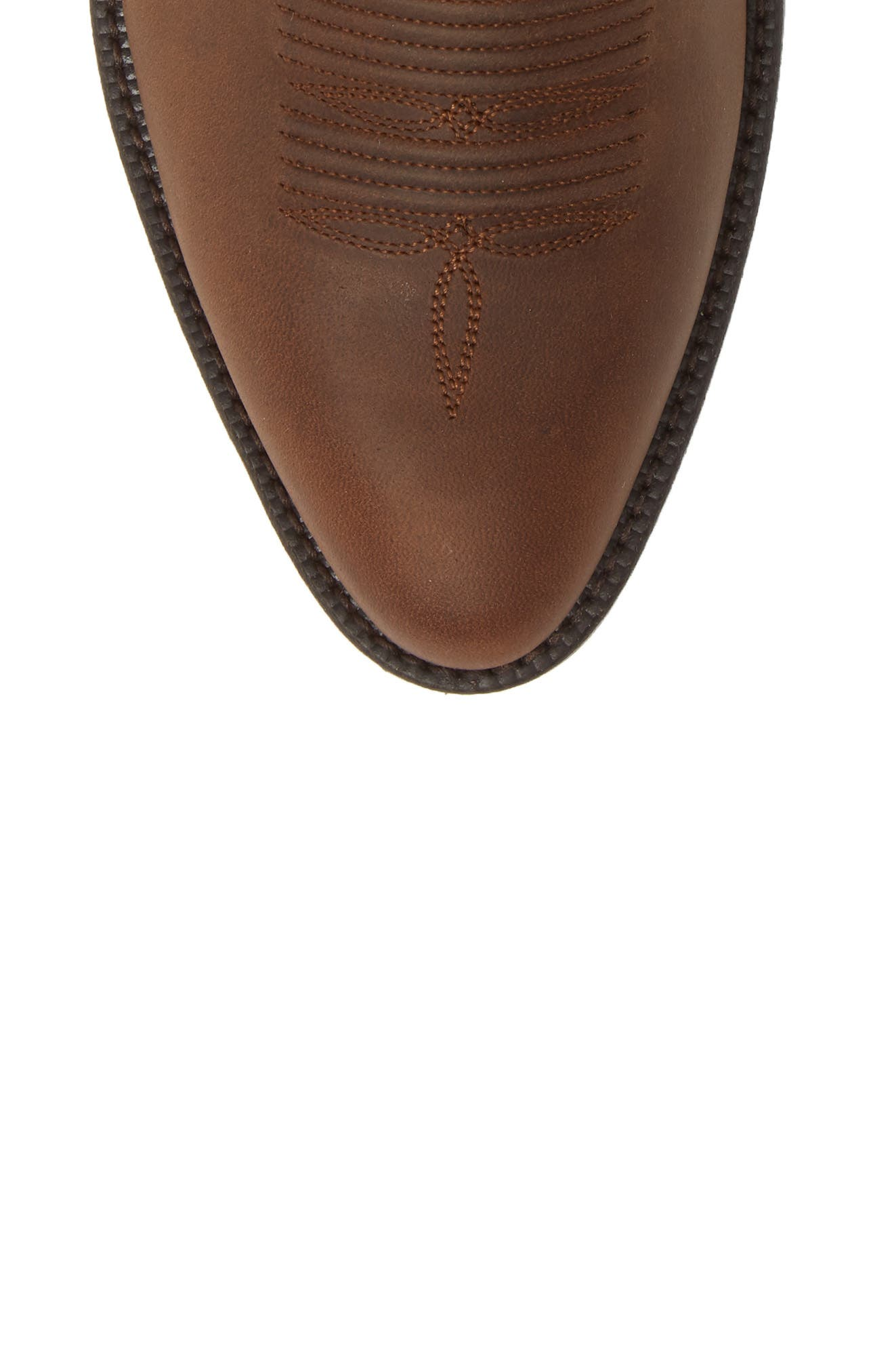 ARIAT, Bar Sour Cowboy Boot, Alternate thumbnail 5, color, DISTRESSED BROWN LEATHER