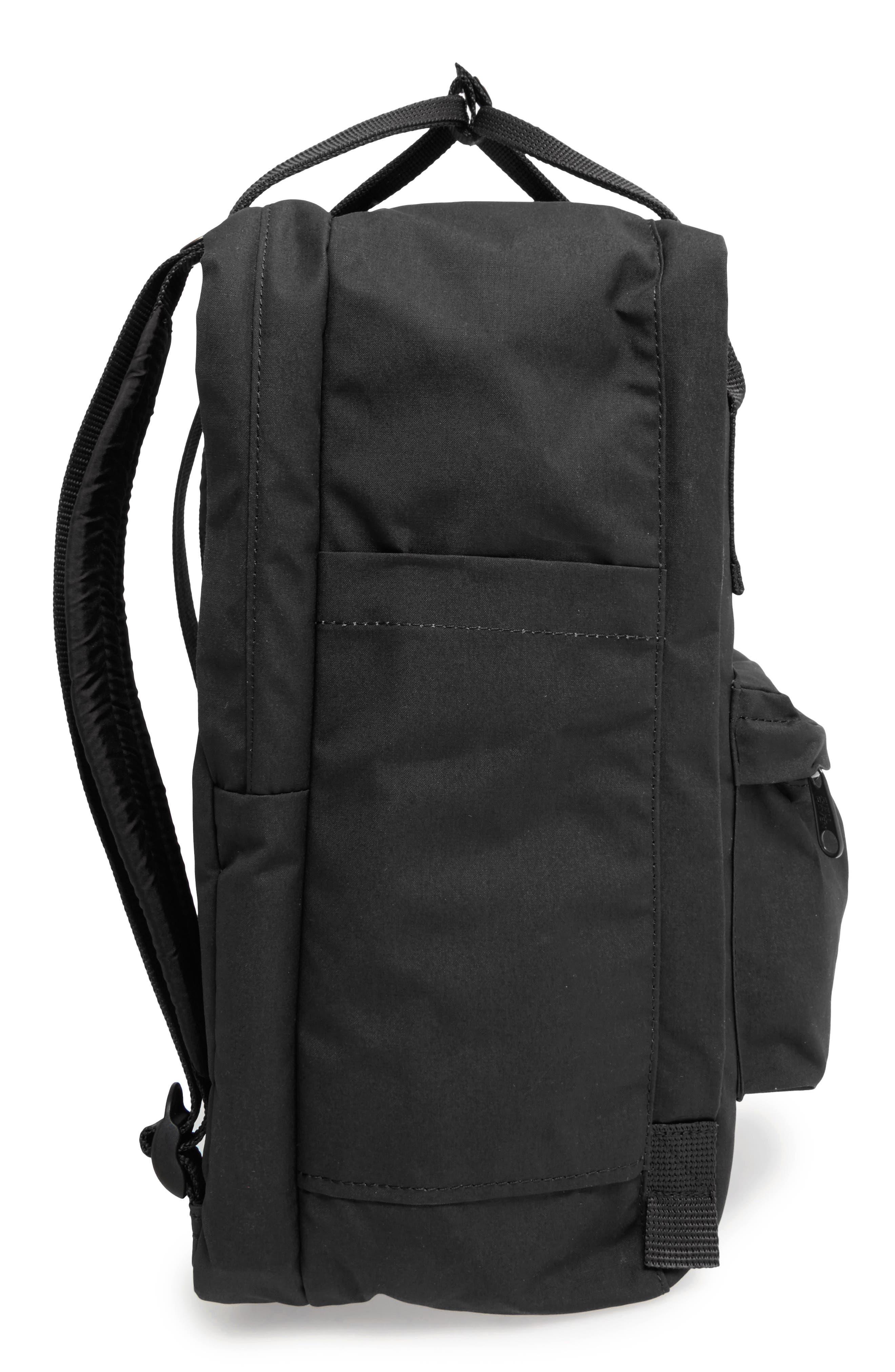FJÄLLRÄVEN, 'Kånken' Laptop Backpack, Alternate thumbnail 4, color, BLACK