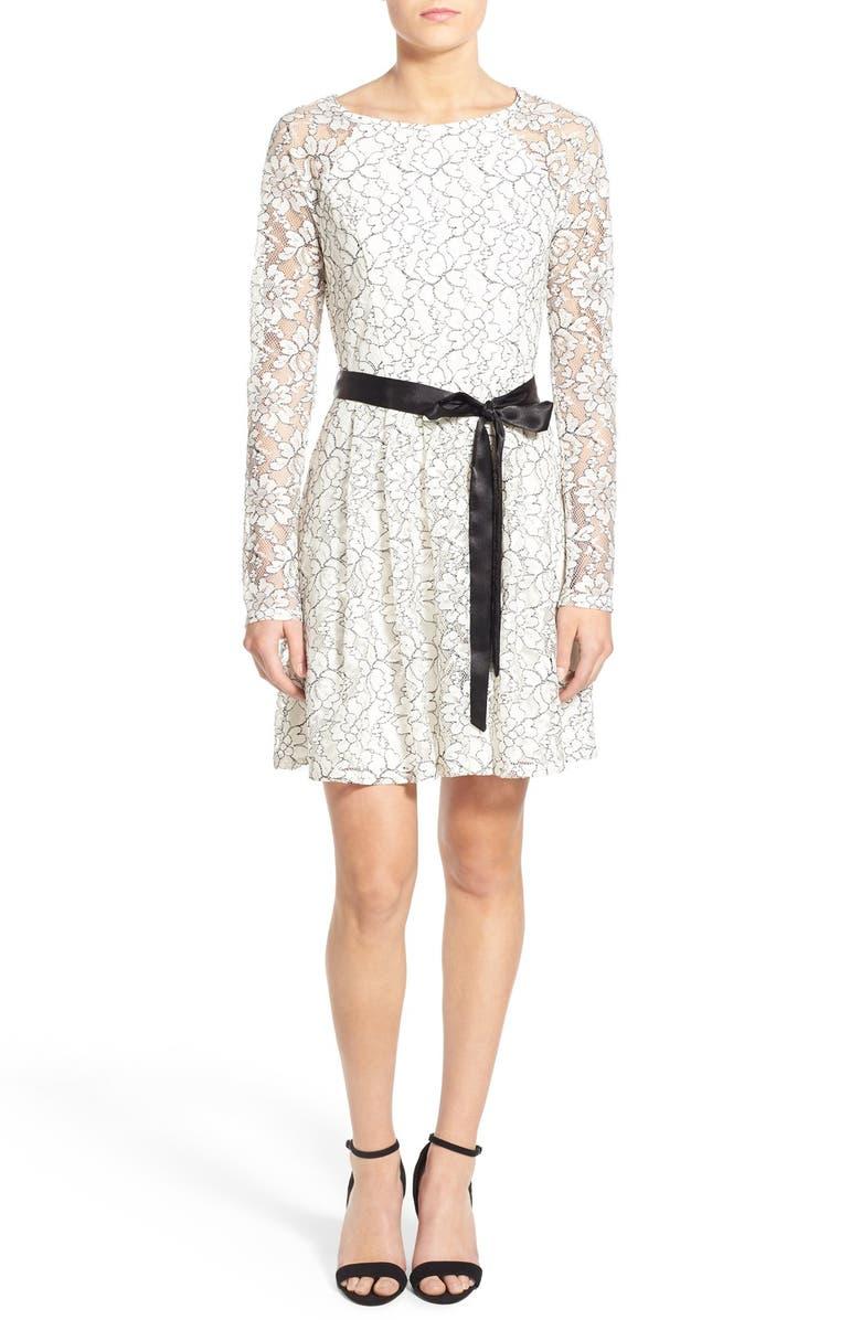 172e9273bad4 SPEECHLESS Long Sleeve Lace Skater Dress, Main, color, 900