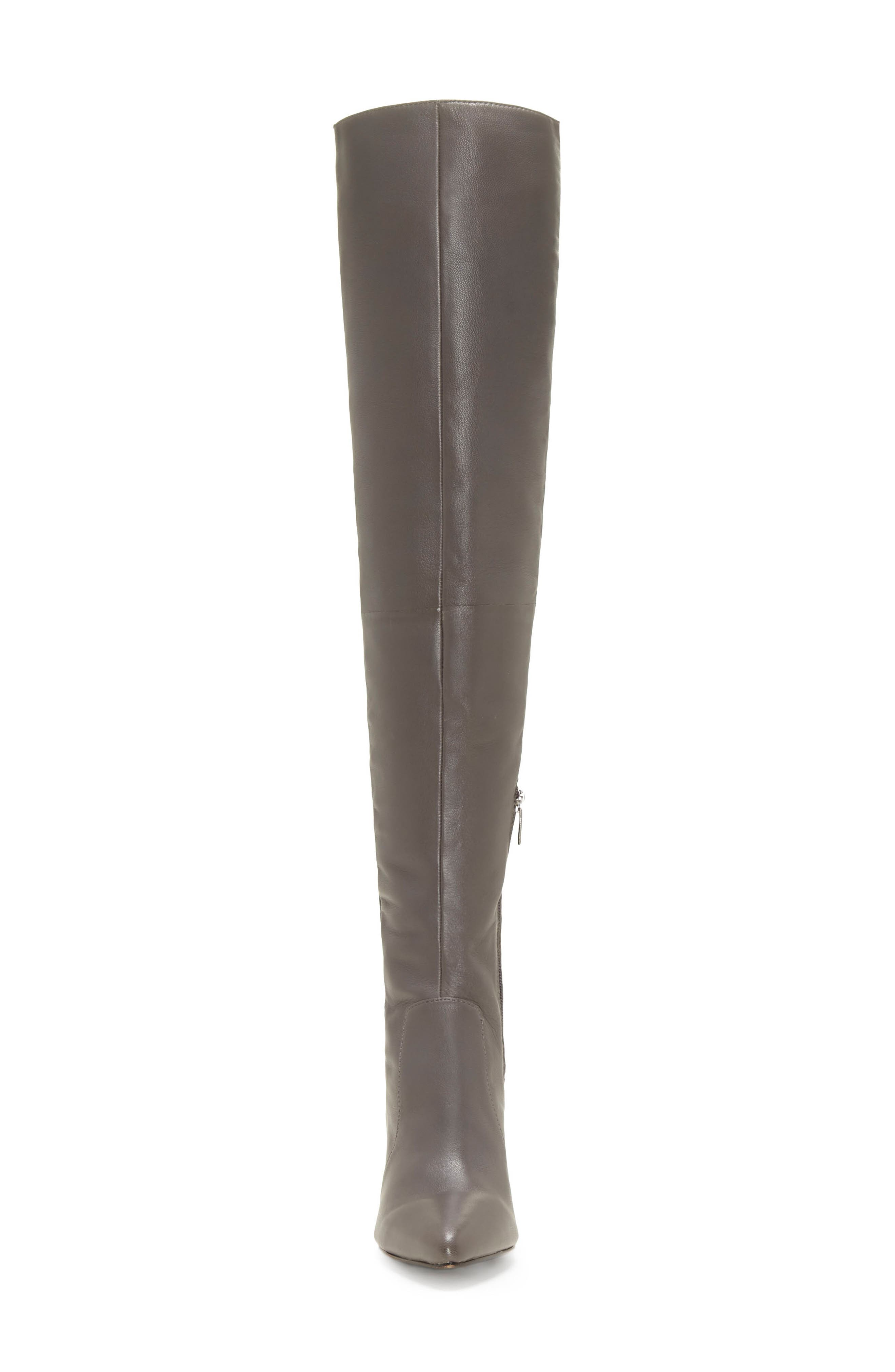 VINCE CAMUTO, Majestie Over the Knee Boot, Alternate thumbnail 4, color, THUNDER LEATHER