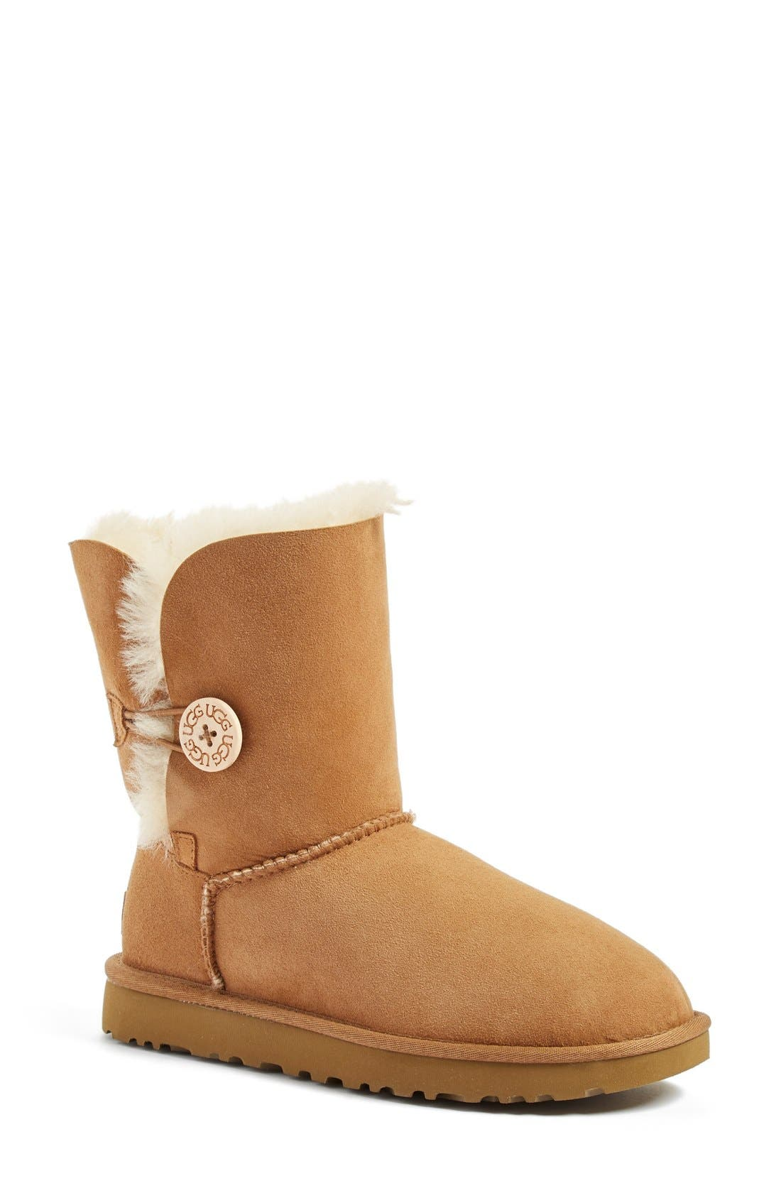 UGG<SUP>®</SUP>, Bailey Button II Boot, Main thumbnail 1, color, CHESTNUT SUEDE