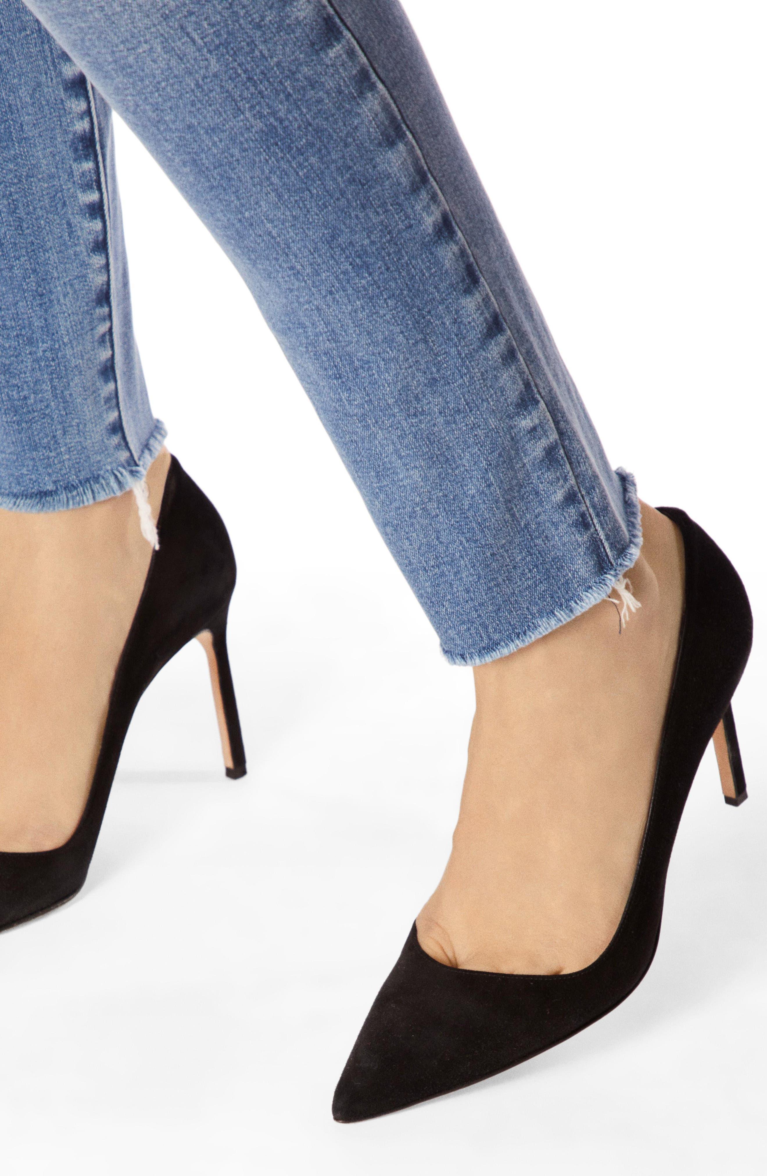 J BRAND, Maria High Waist Raw Hem Skinny Jeans, Alternate thumbnail 3, color, VEGA