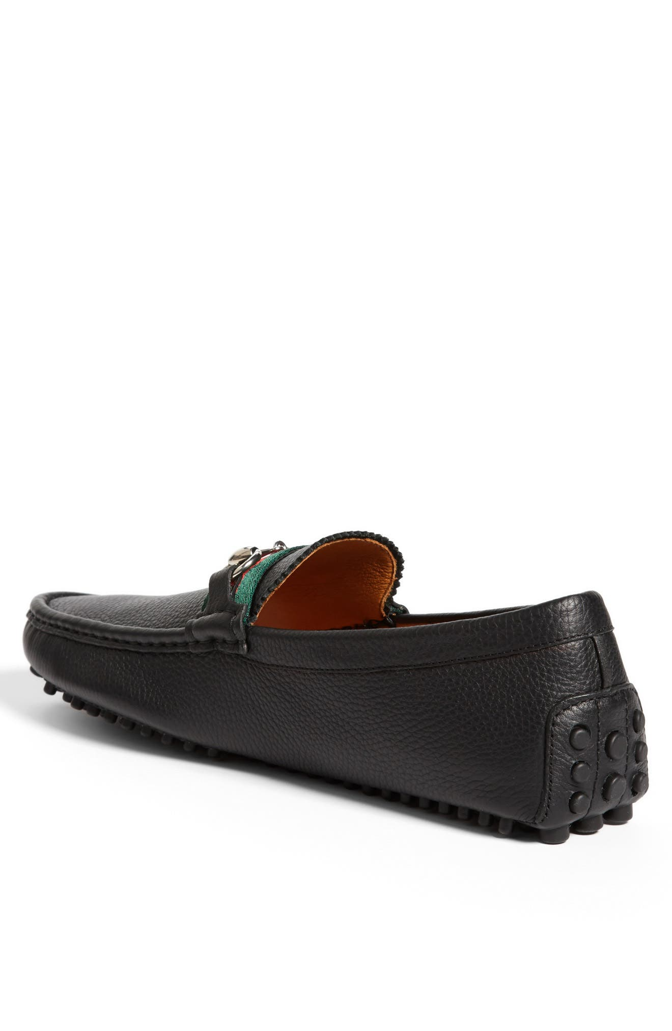 GUCCI, 'Damo' Driving Shoe, Alternate thumbnail 2, color, BLACK