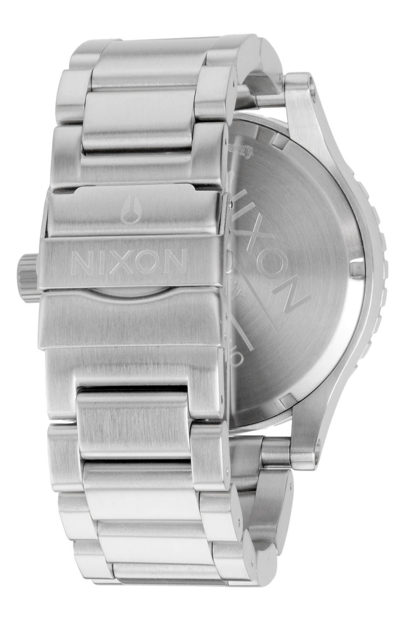 NIXON, 'The 51-30 Chrono' Watch, 51mm, Alternate thumbnail 2, color, SILVER/ BLACK/ SILVER