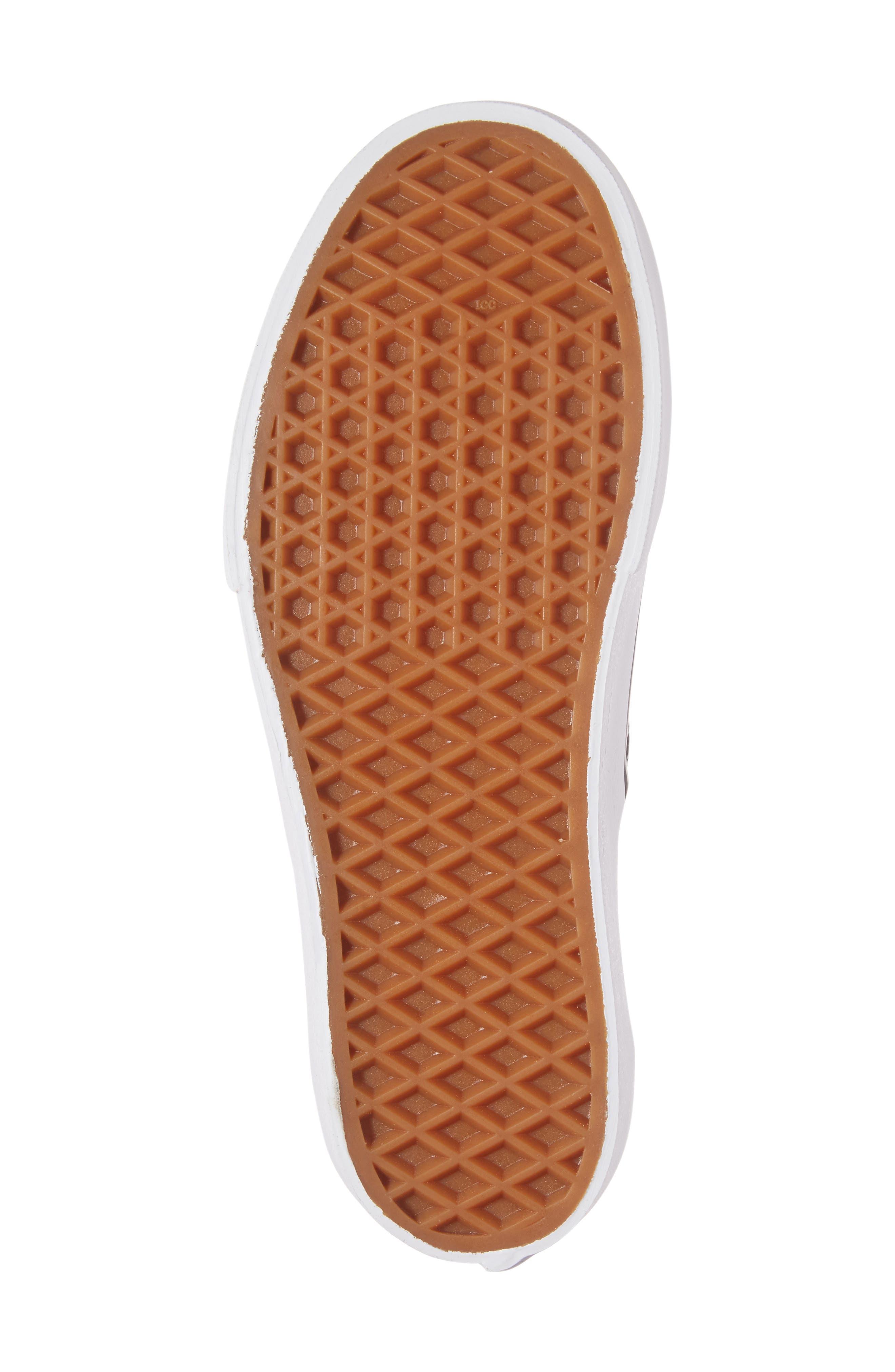 VANS, 'Authentic' Platform Sneaker, Alternate thumbnail 6, color, BLACK/ WHITE