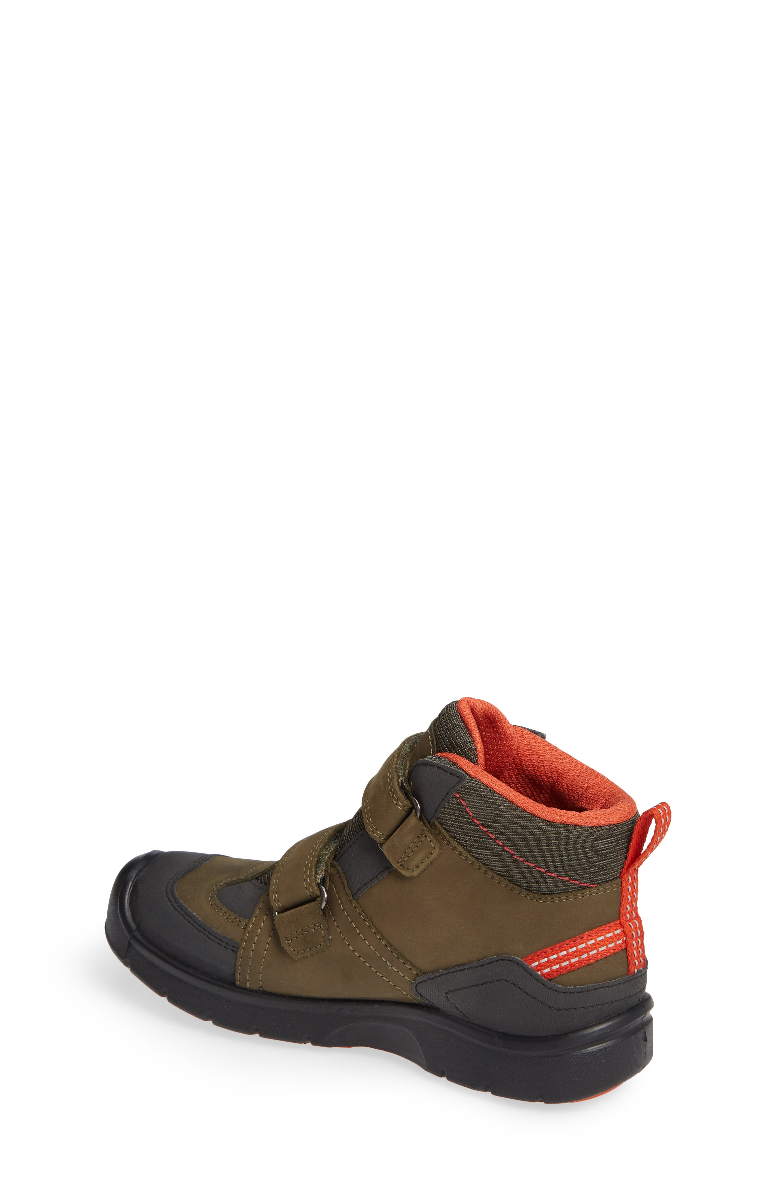 KEEN, Hikeport Strap Waterproof Mid Boot, Alternate thumbnail 2, color, MARTINI OLIVE/ PUMPKIN