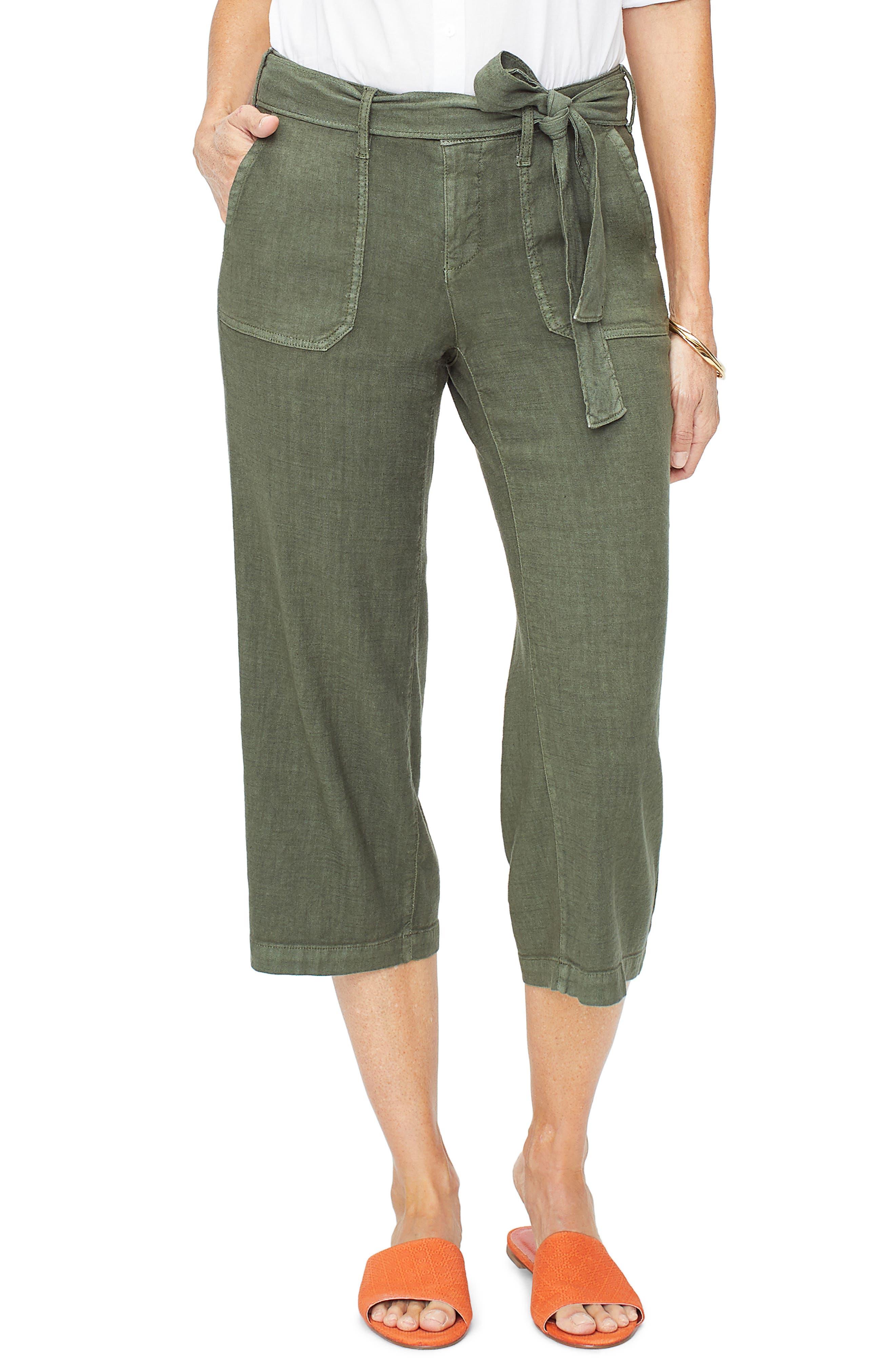 Nydj Fashion Cargo Capri Pants, Green