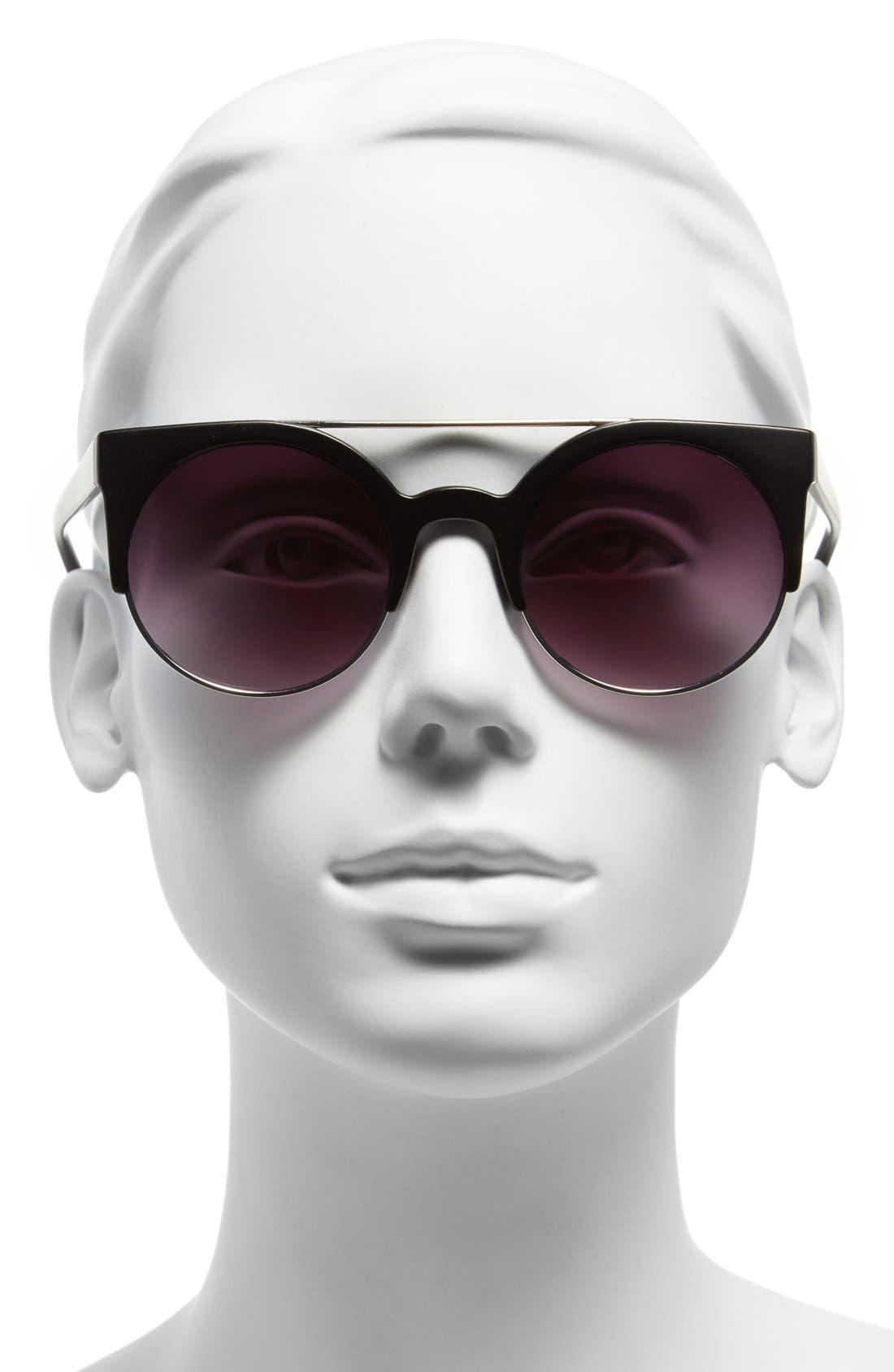 LEITH, Aviator Sunglasses, Alternate thumbnail 2, color, 001