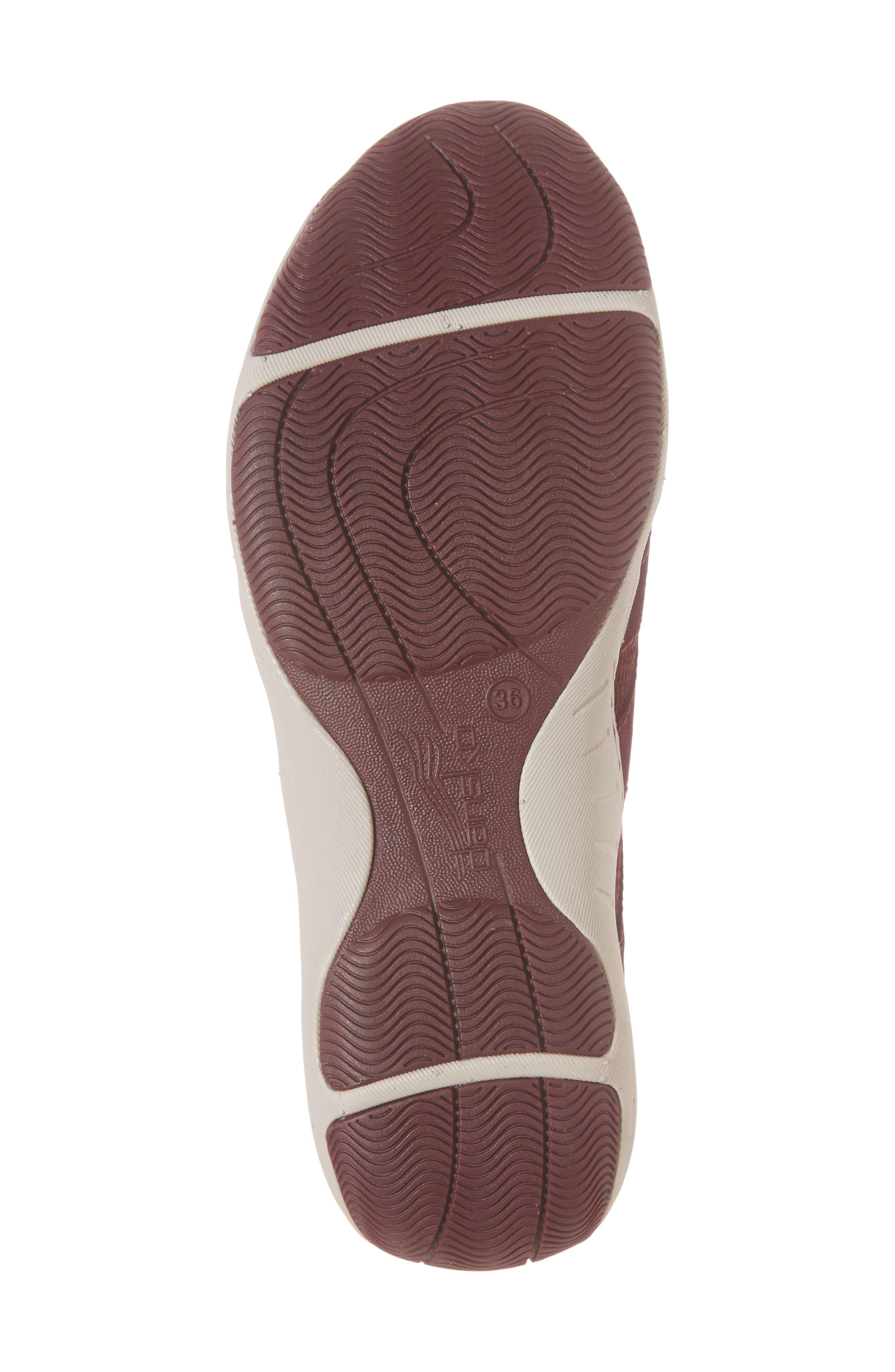 DANSKO, Holland Sneaker, Alternate thumbnail 6, color, WINE SUEDE