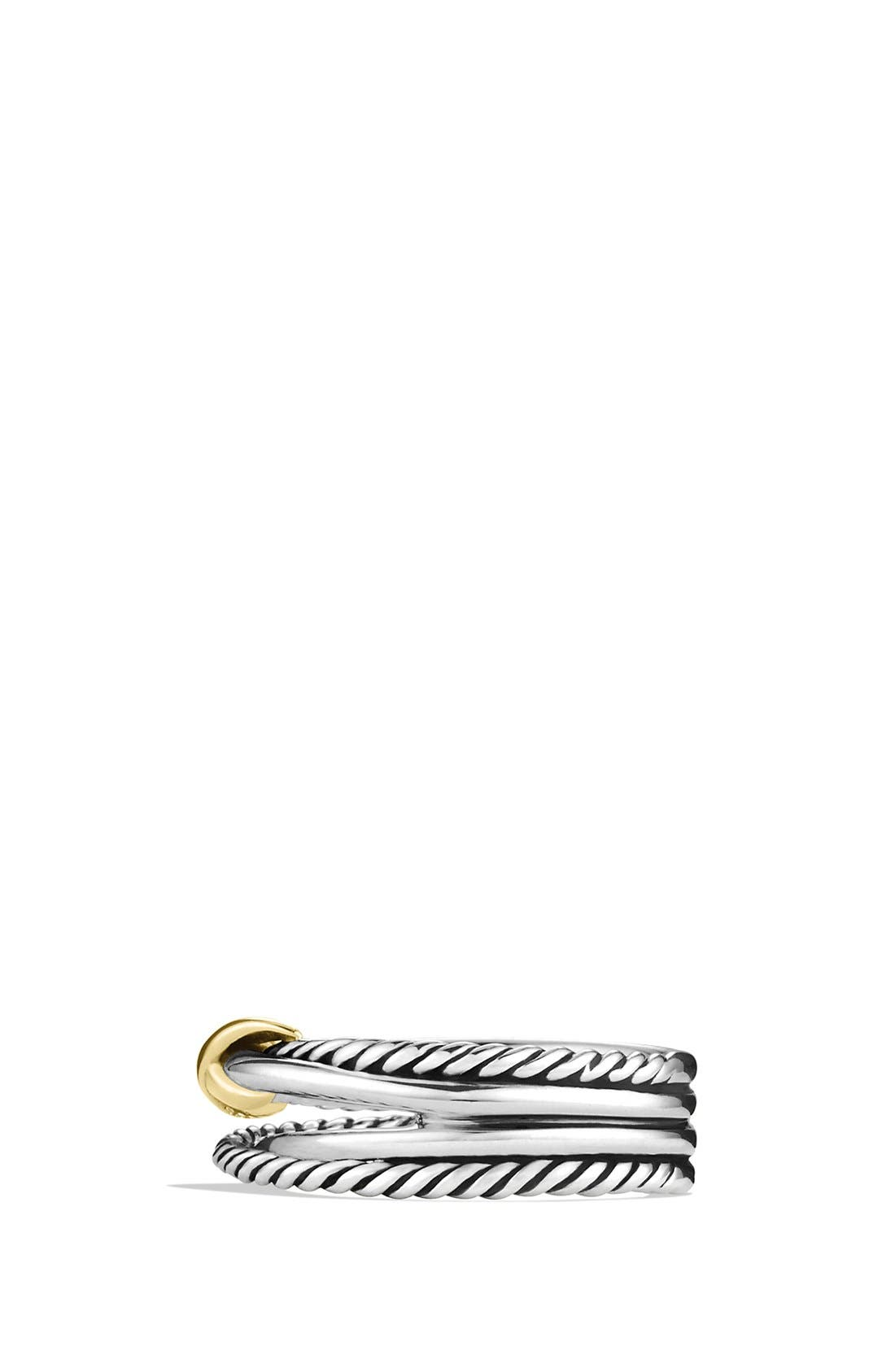DAVID YURMAN, 'X Crossover' Ring, Alternate thumbnail 2, color, TWO TONE