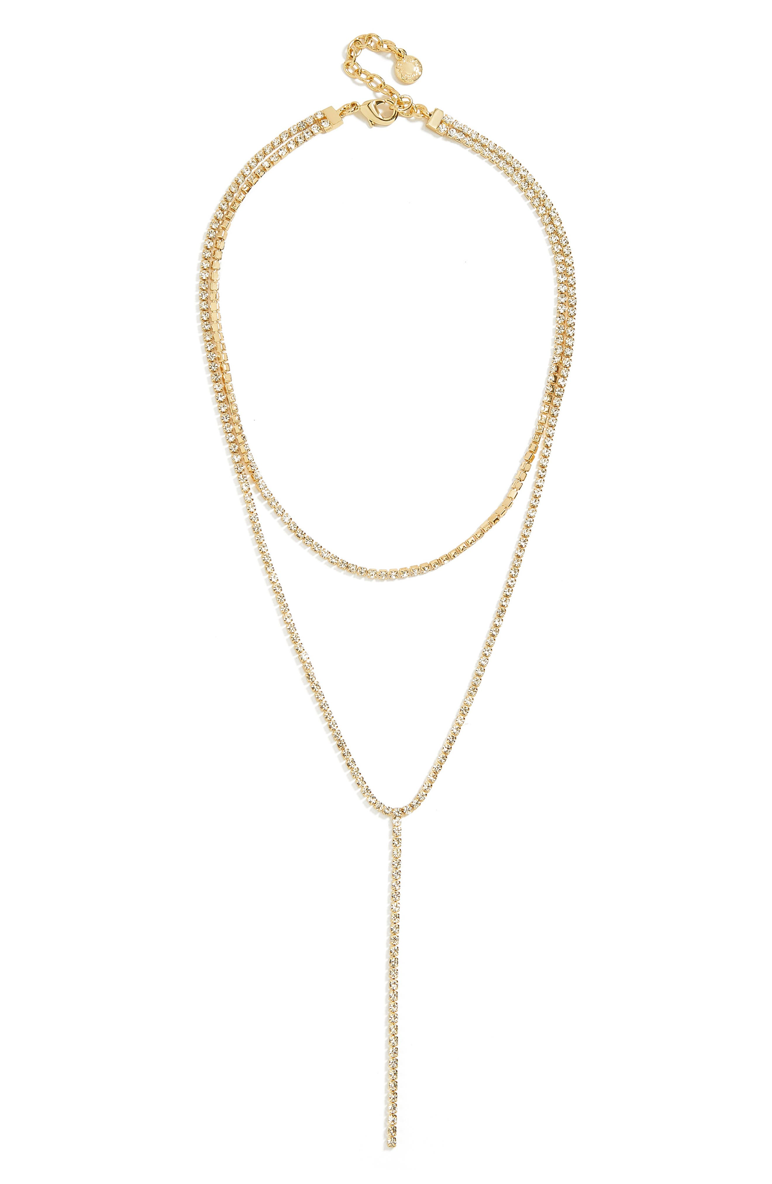 BAUBLEBAR, Skyler Layered Y Necklace, Main thumbnail 1, color, GOLD