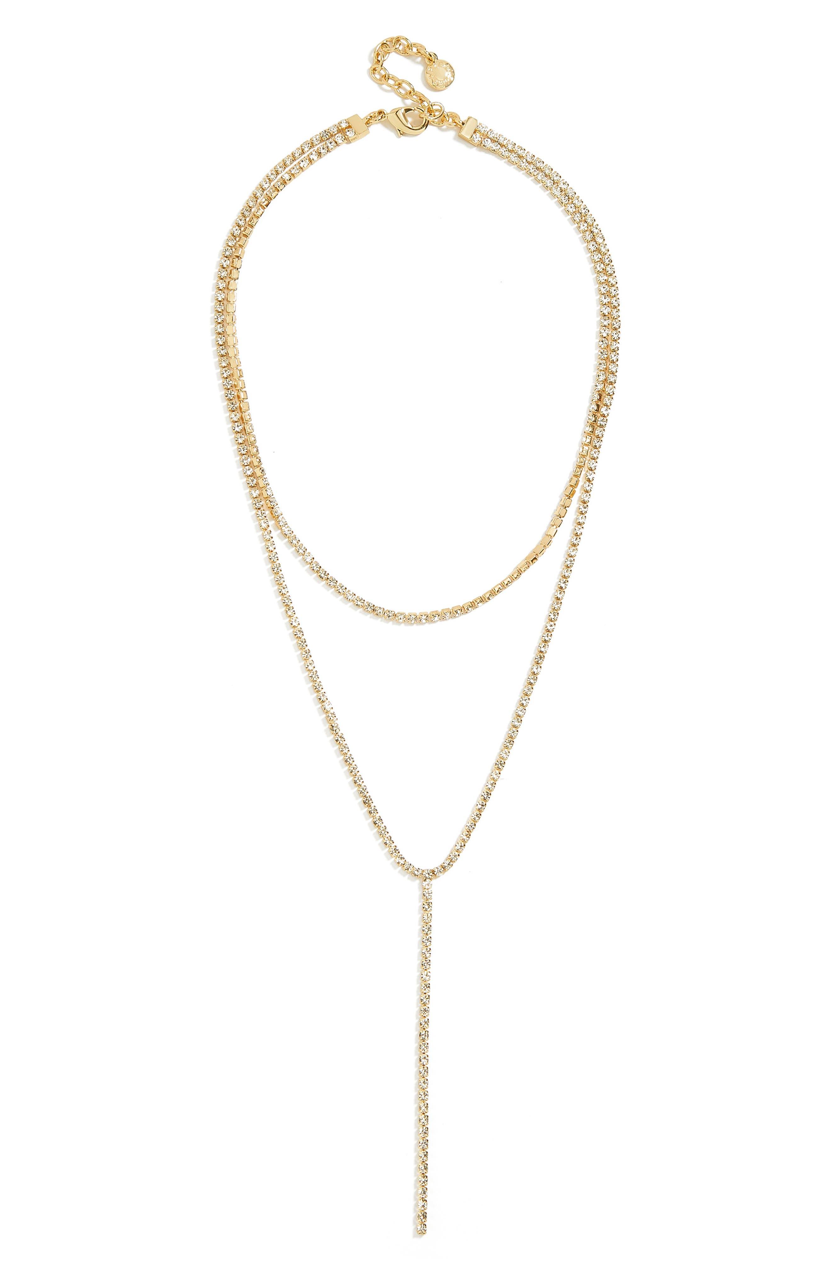 BAUBLEBAR Skyler Layered Y Necklace, Main, color, GOLD