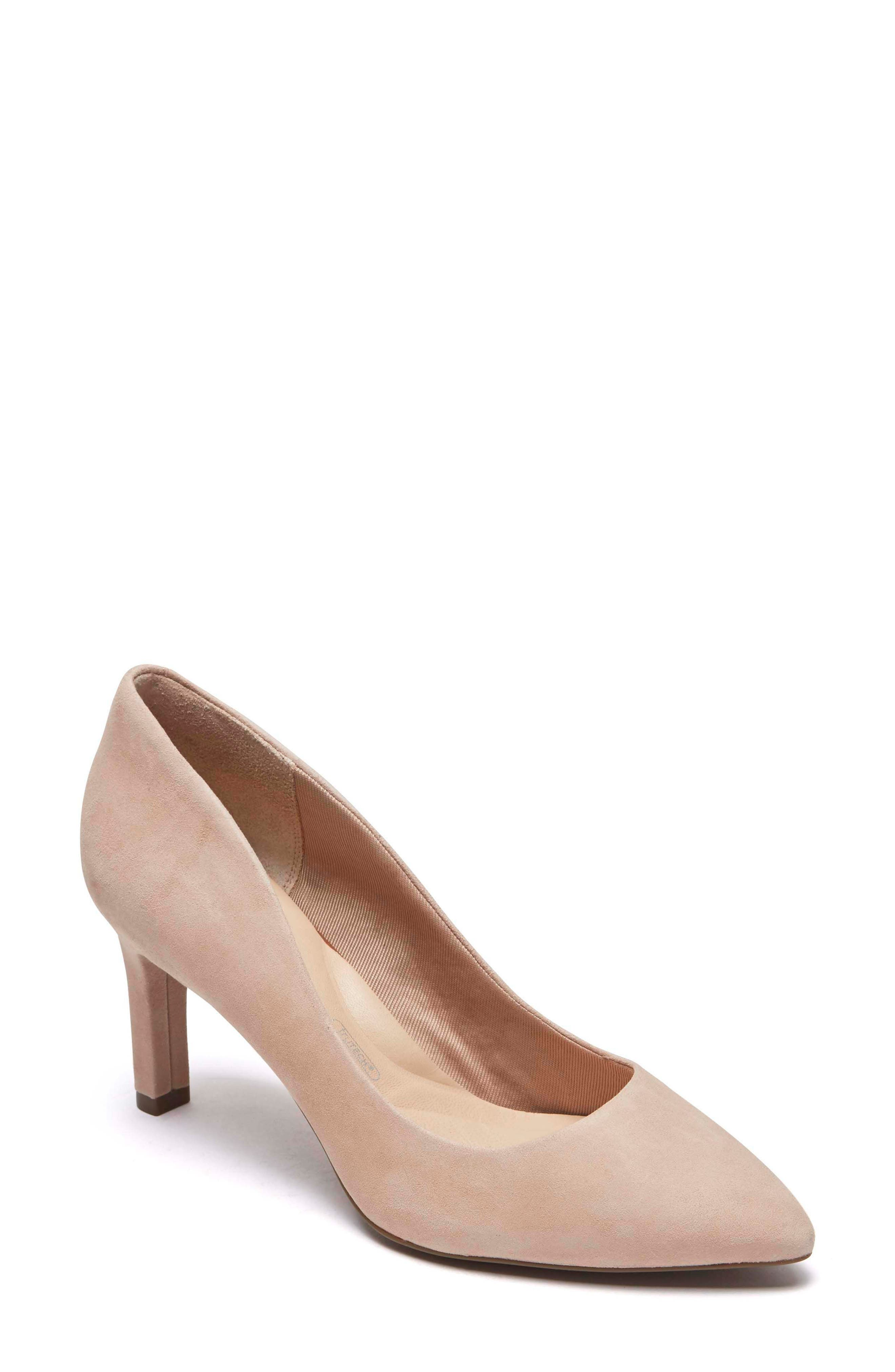ROCKPORT, Total Motion Luxe Valerie Pump, Main thumbnail 1, color, BLUSH SUEDE