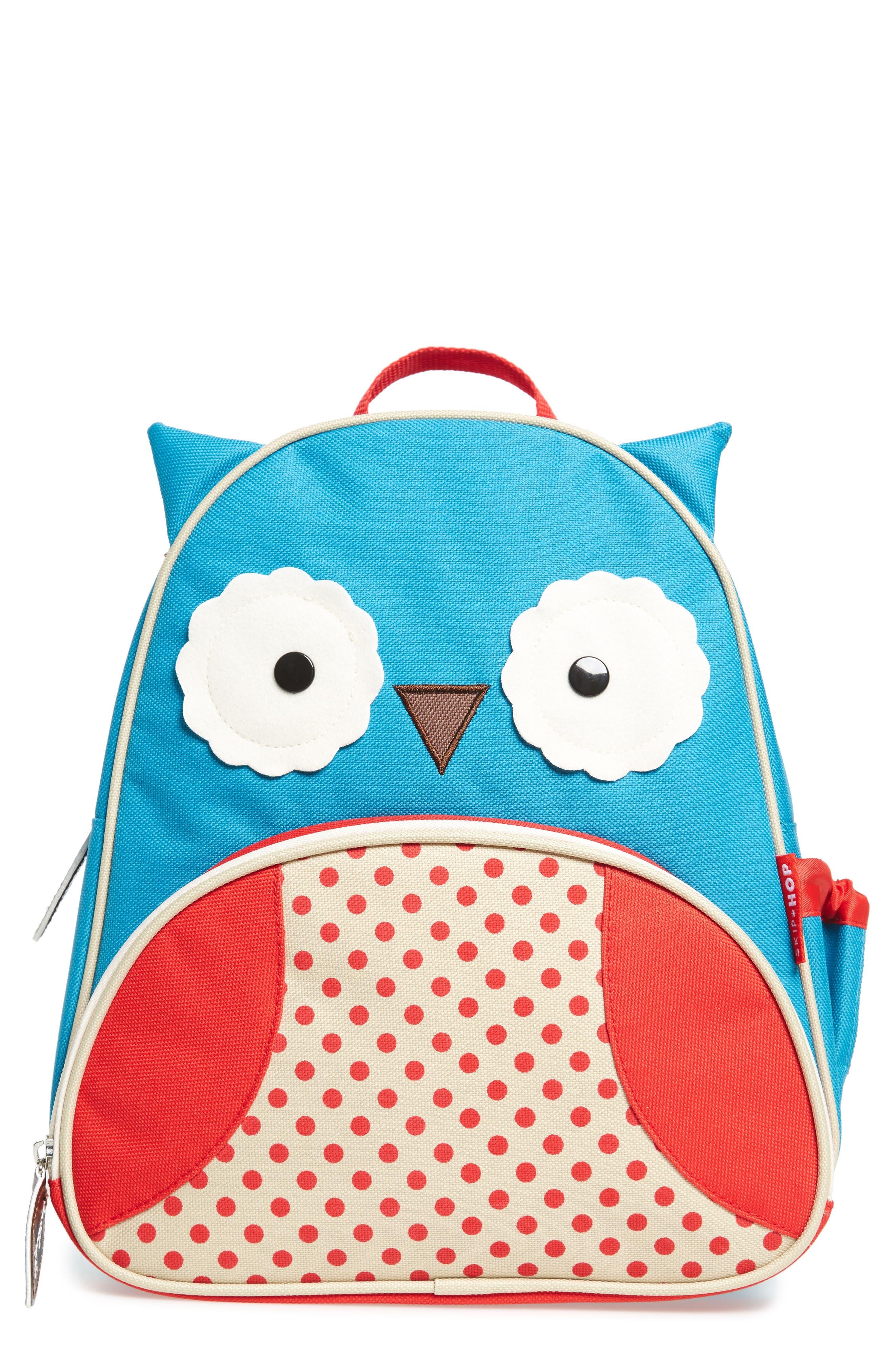 SKIP HOP, Owl Zoo Pack Backpack, Main thumbnail 1, color, BLUE MULTI