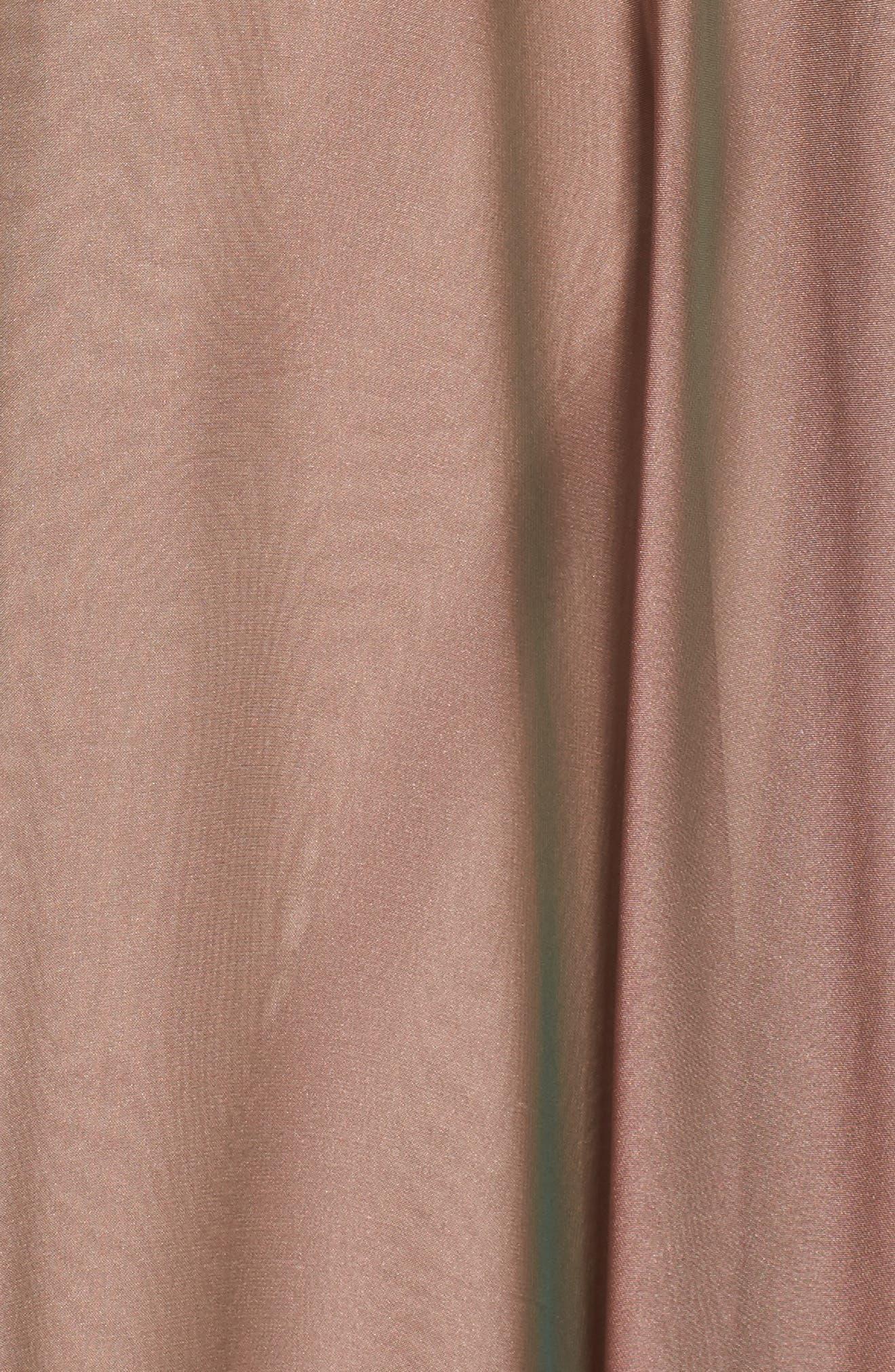 LA FEMME, Embellished Bodice Gown, Alternate thumbnail 5, color, COCOA