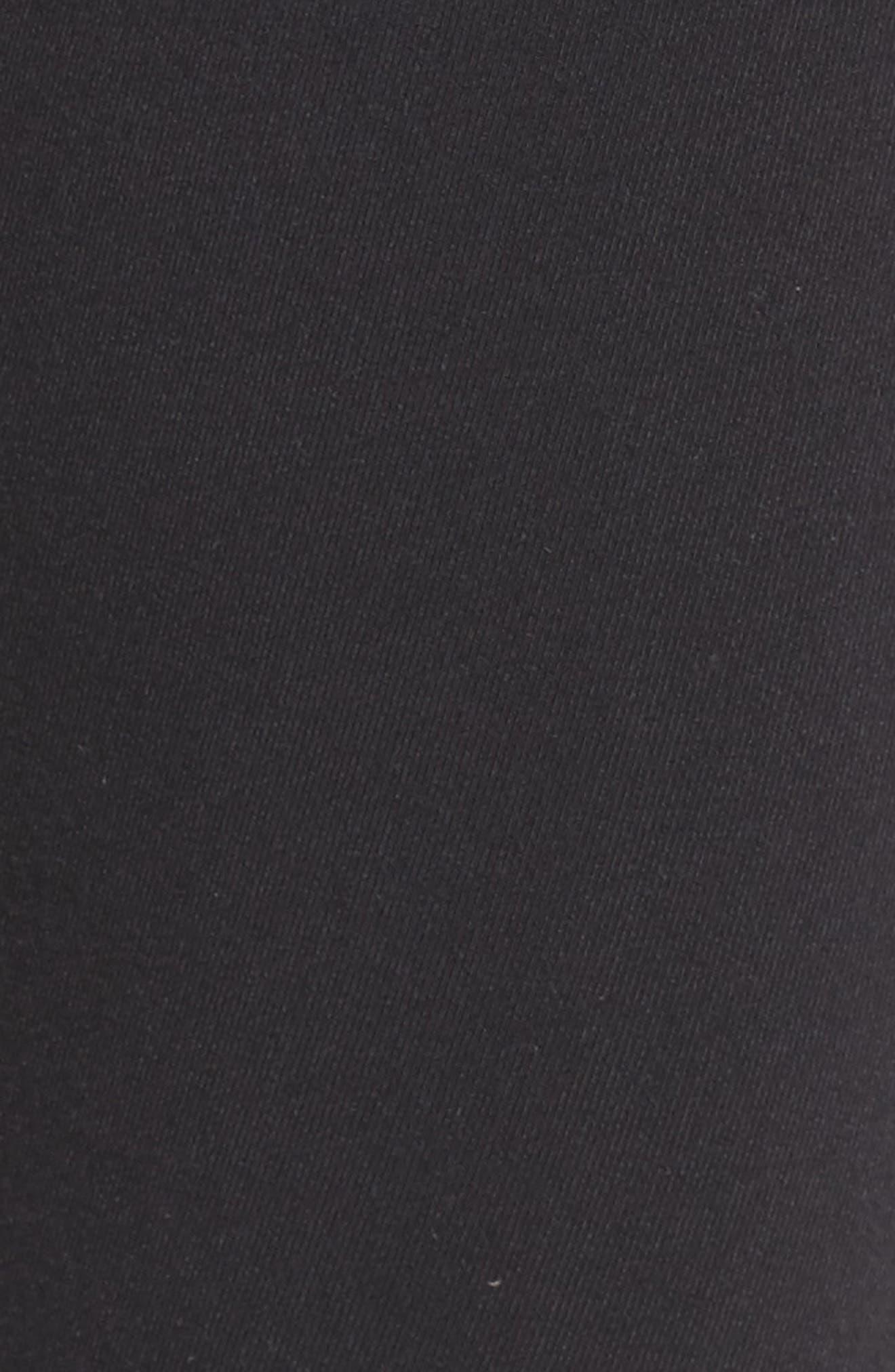 ALO, Goddess High Waist Leggings, Alternate thumbnail 6, color, BLACK/ BLACK