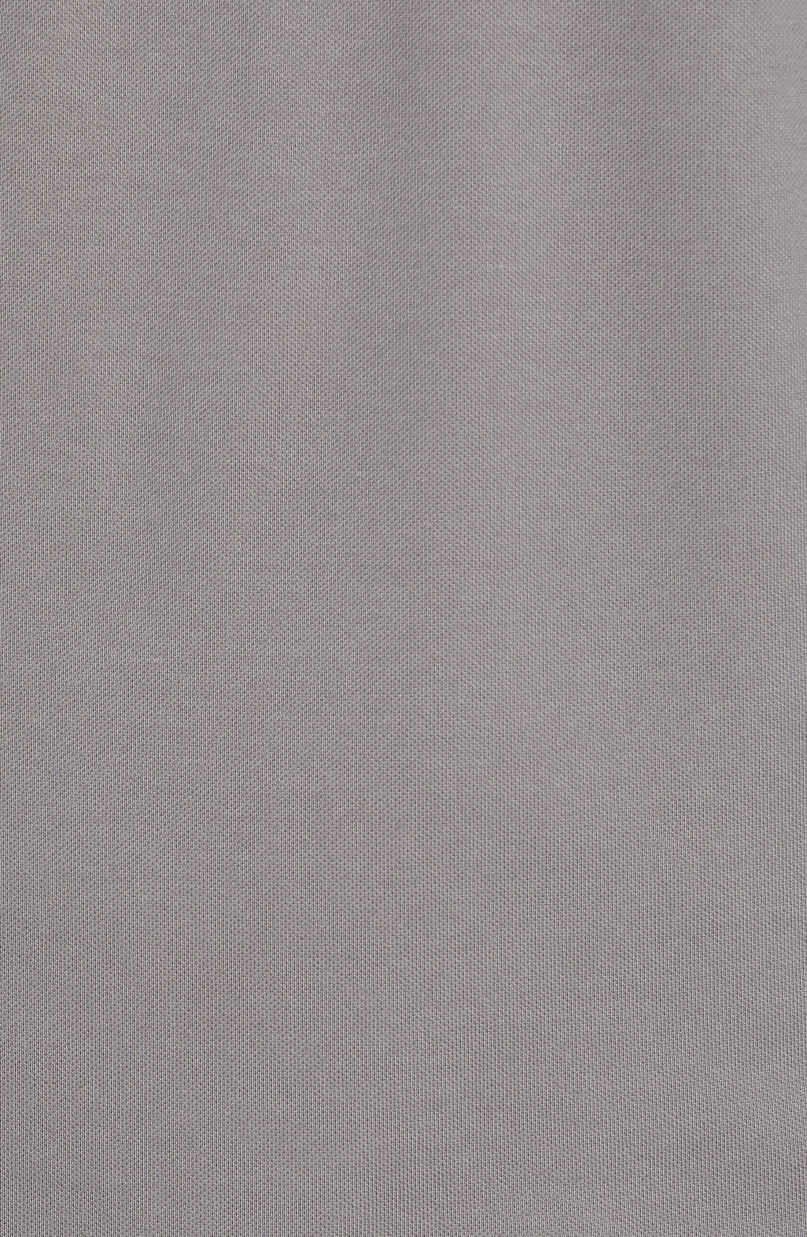 CUTTER & BUCK, Advantage Regular Fit DryTec Mock Neck Pullover, Alternate thumbnail 5, color, ELEMENTAL GREY