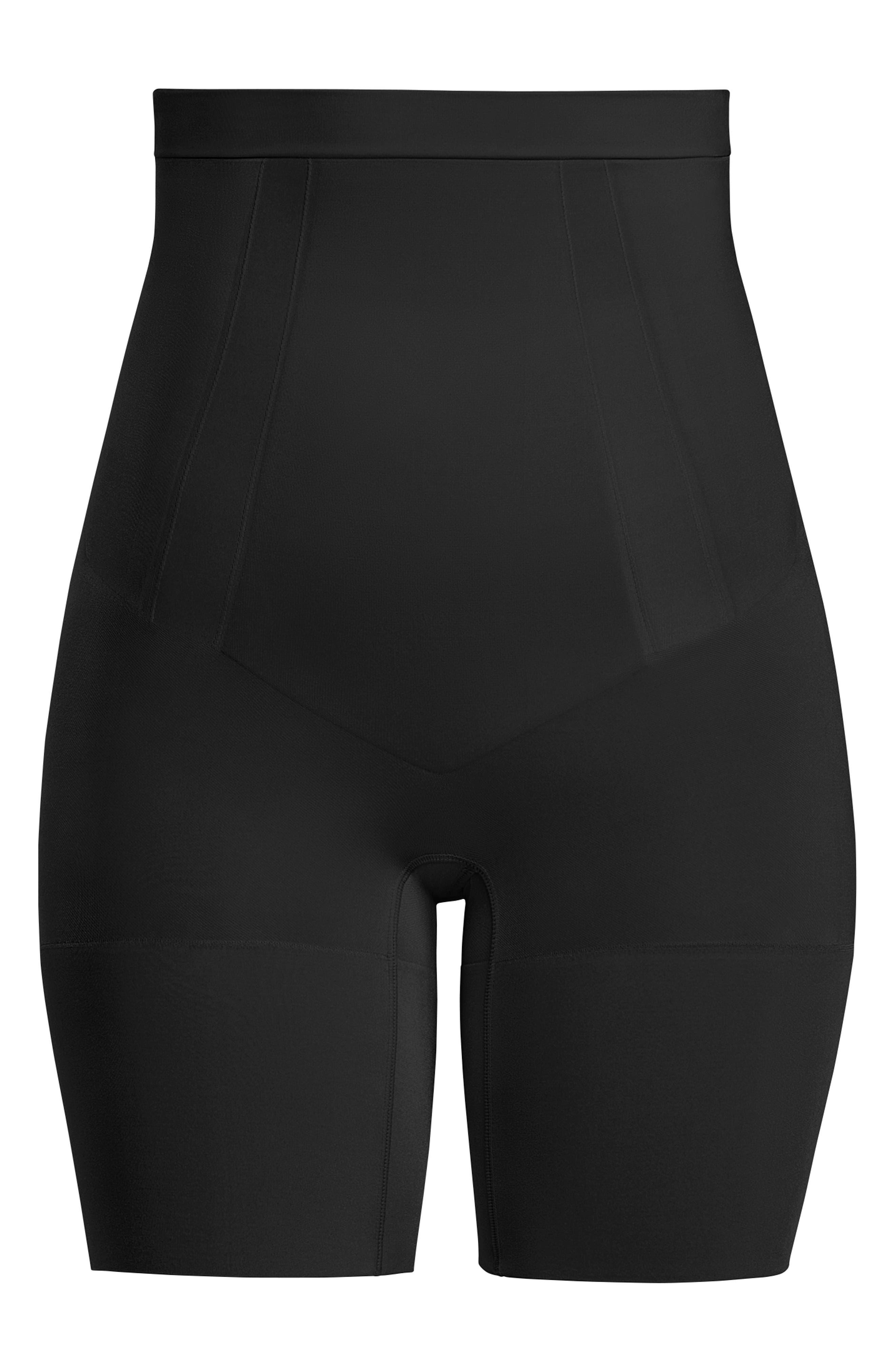 SPANX<SUP>®</SUP>, Oncore High Waist Mid Thigh Shaper, Alternate thumbnail 6, color, BLACK