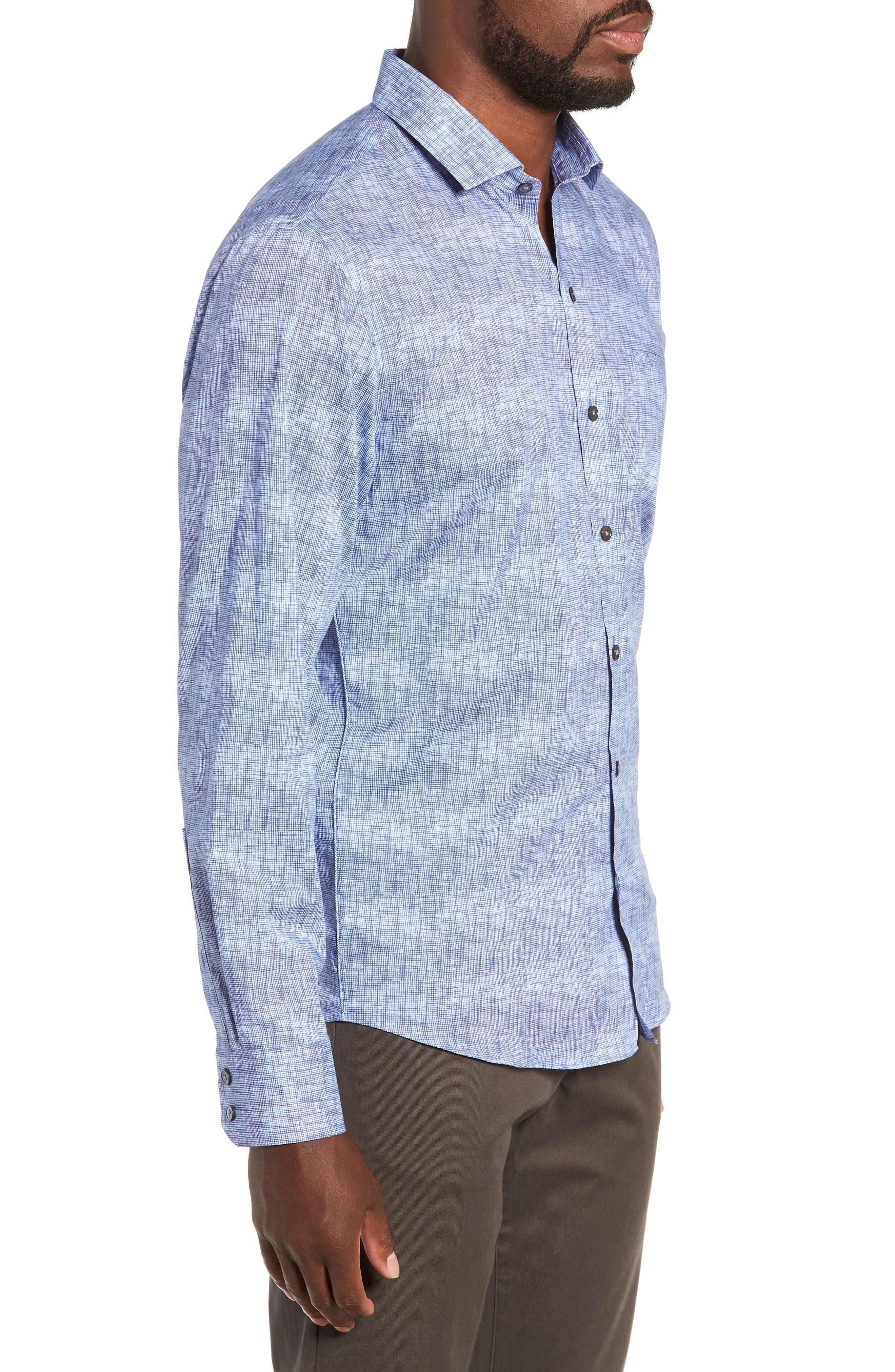 ZACHARY PRELL, Oppong Regular Fit Sport Shirt, Alternate thumbnail 4, color, 400