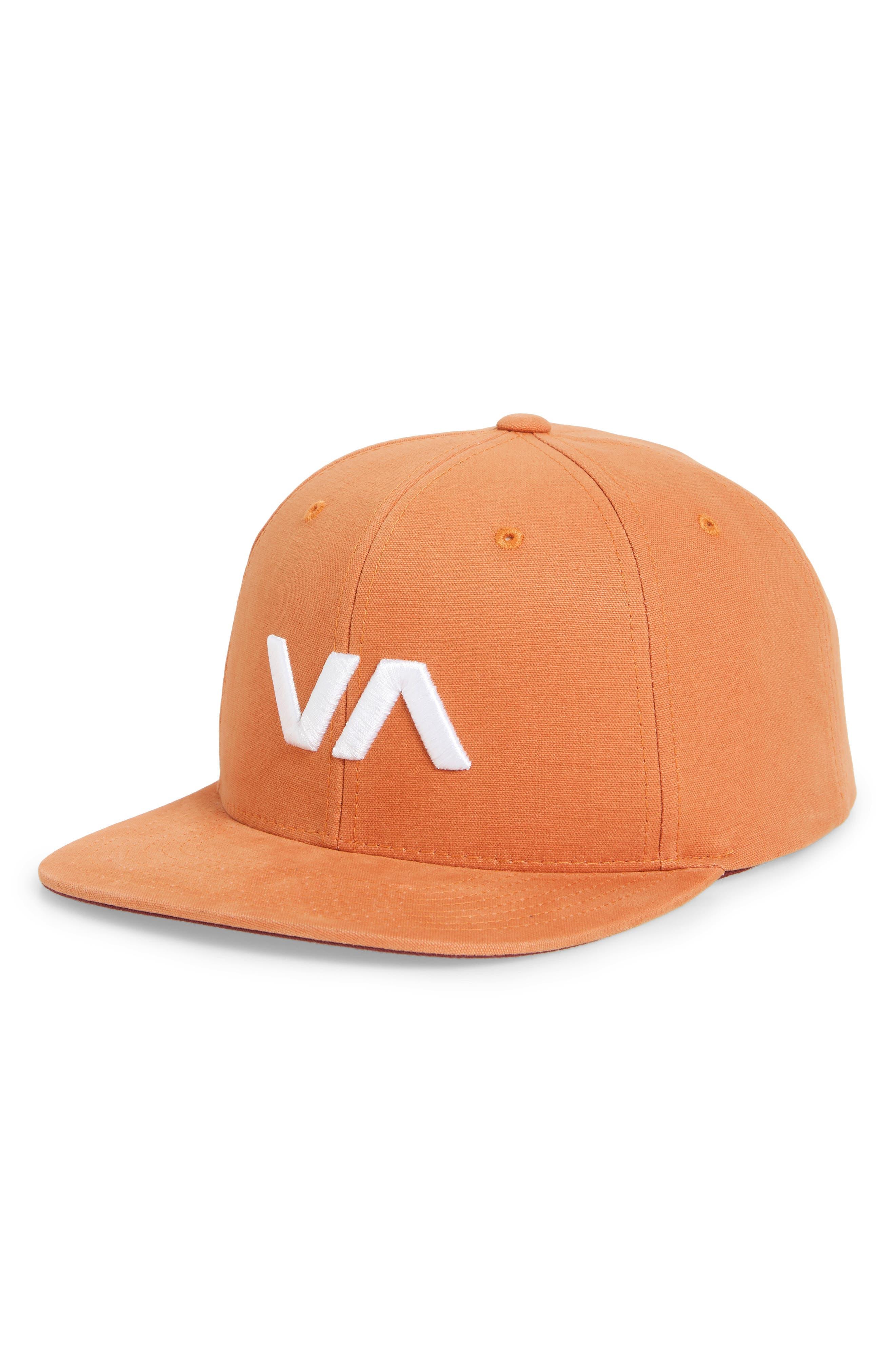 RVCA, VA Snapback II Snapback Hat, Main thumbnail 1, color, BRICK RED