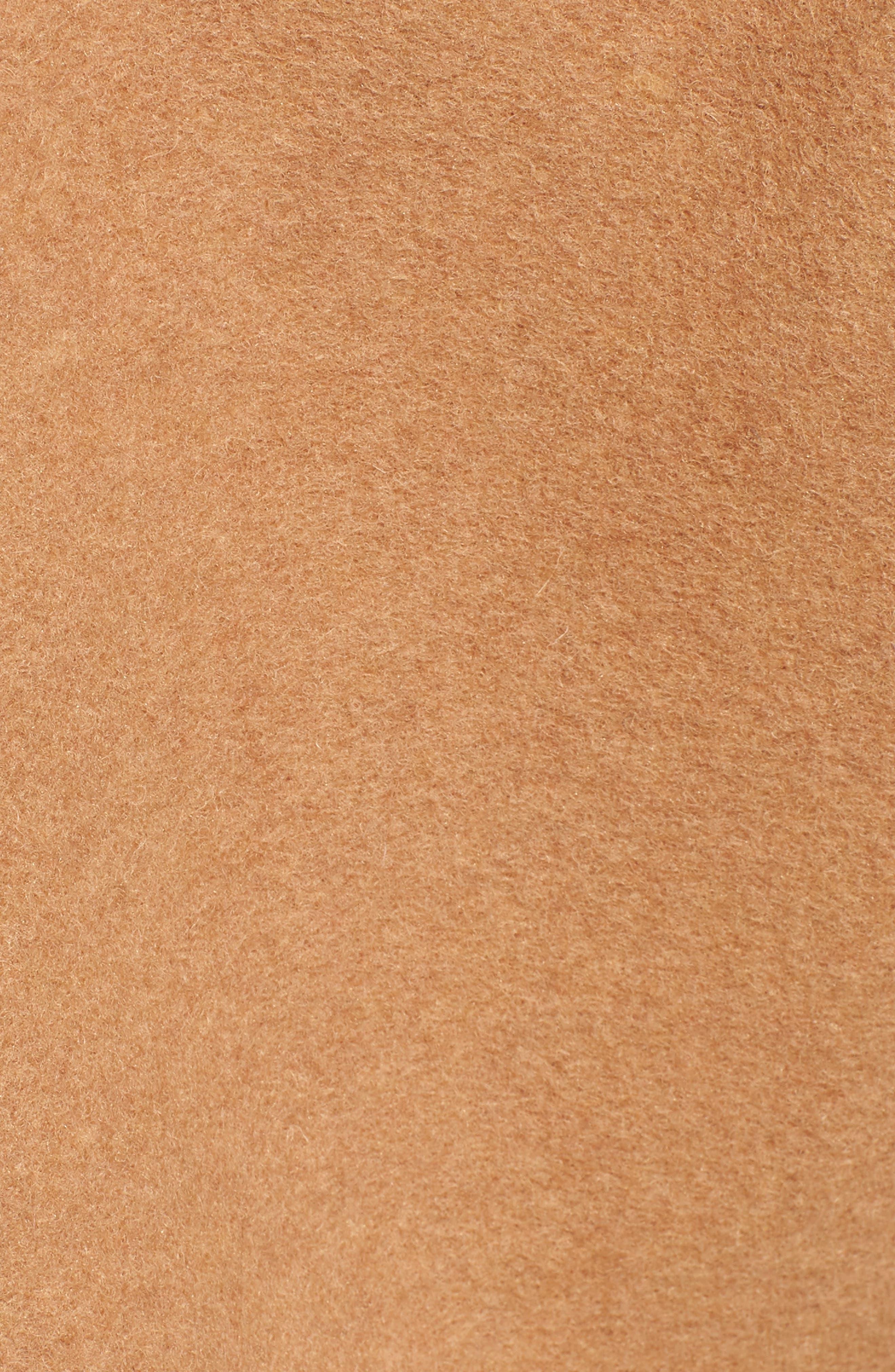 NVLT, Brushed Melton Wool Blend Jacket, Alternate thumbnail 7, color, CAMEL/ CREAM