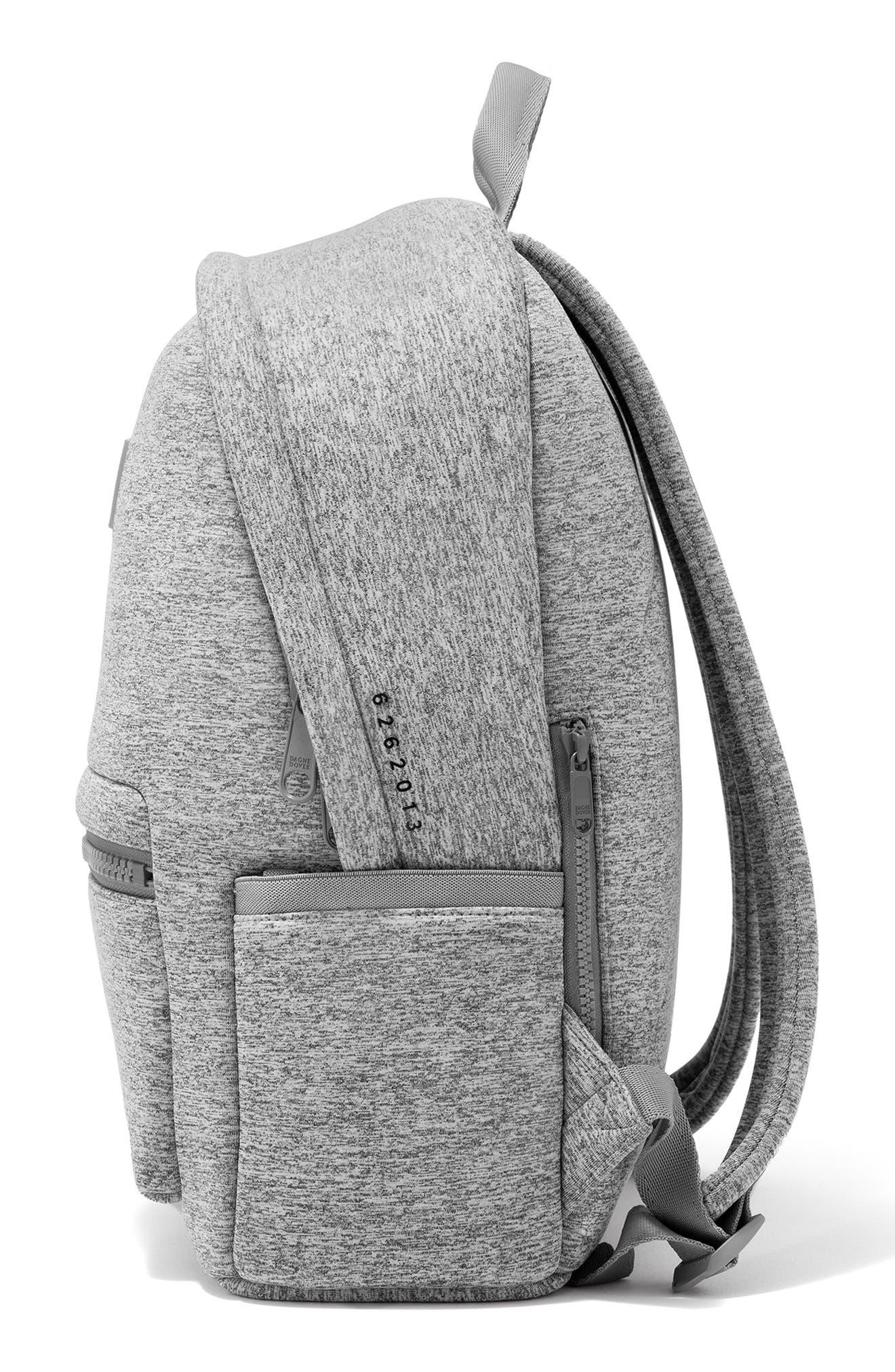 DAGNE DOVER, 365 Dakota Neoprene Backpack, Alternate thumbnail 5, color, HEATHER GREY