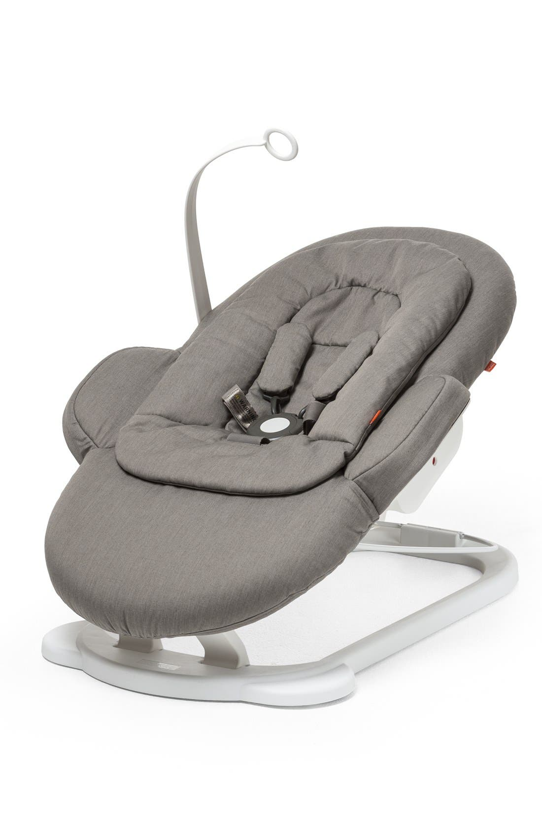 STOKKE, 'Steps<sup>™</sup>' Bouncer, Alternate thumbnail 6, color, GREIGE