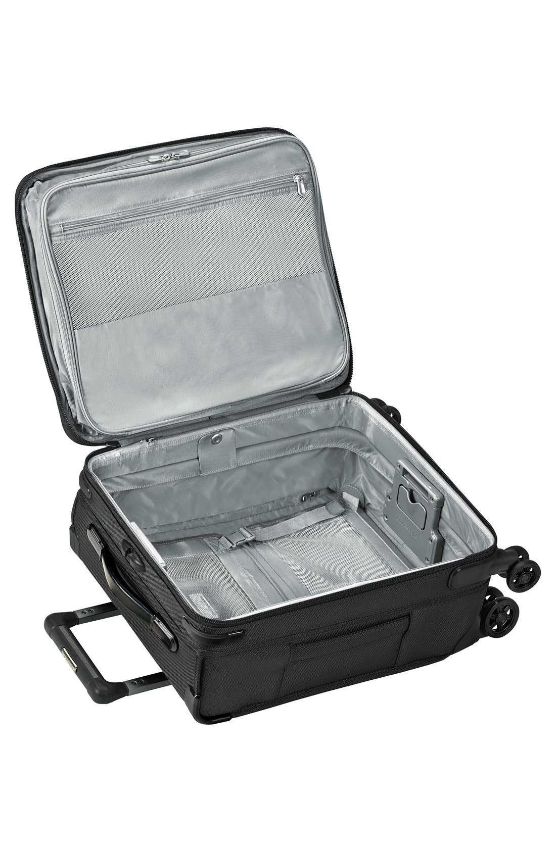 BRIGGS & RILEY, Baseline Wide Body Expandable 21-Inch Rolling Packing Case, Alternate thumbnail 3, color, BLACK