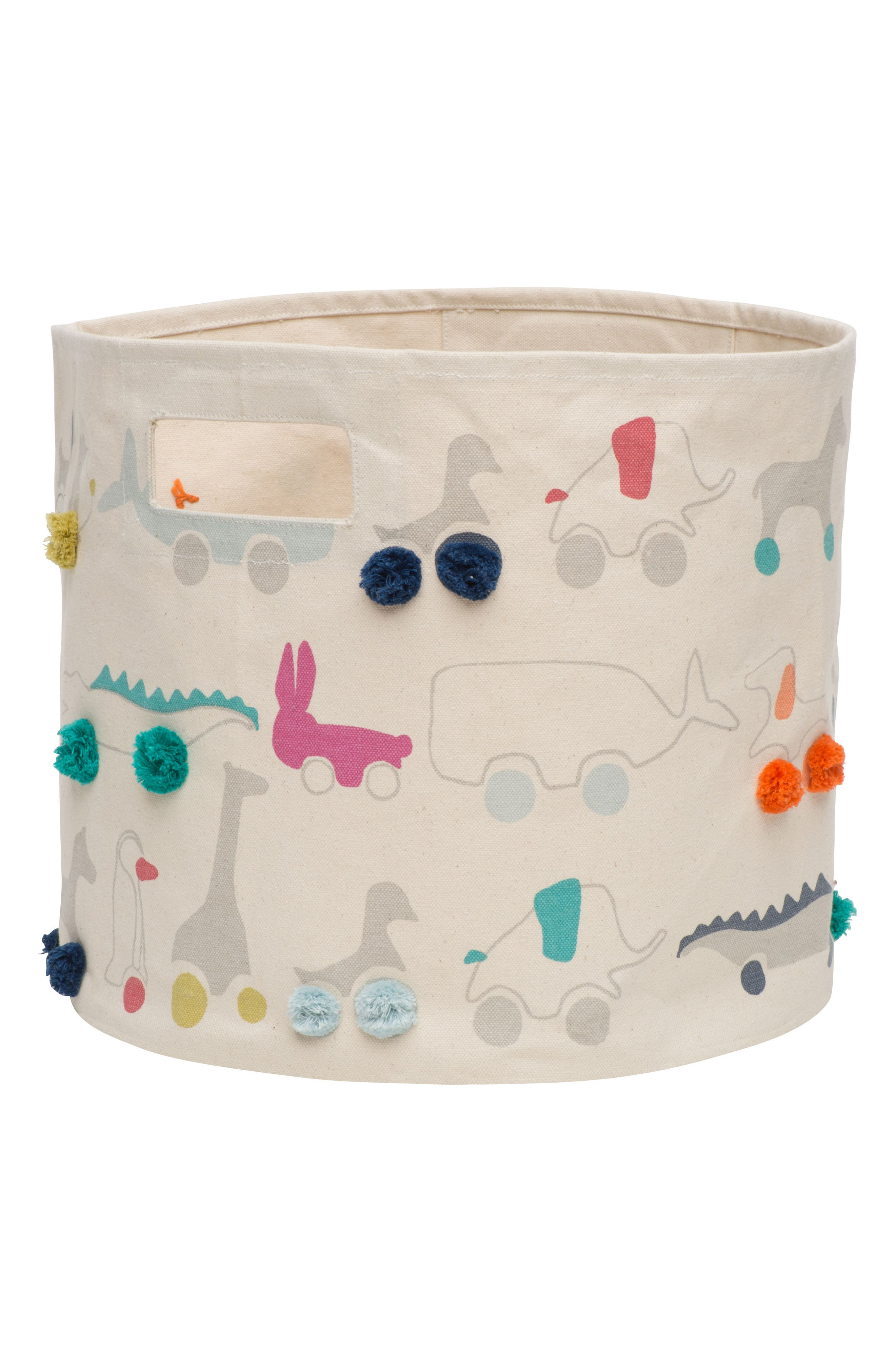 Pehr Pull Toys Canvas Bin Size One Size  Ivory