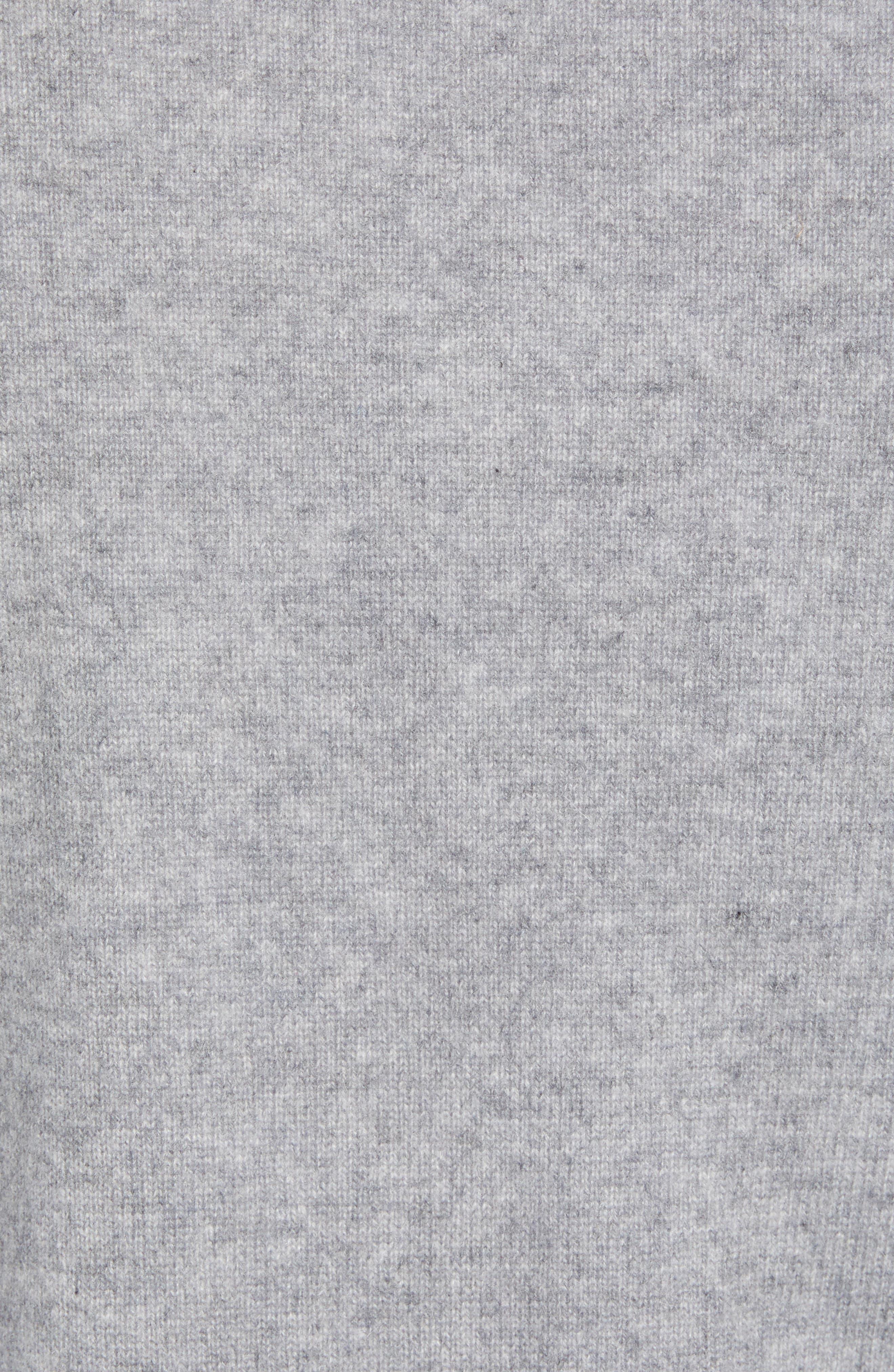 NORDSTROM MEN'S SHOP, Regular Fit Cashmere Quarter Zip Pullover, Alternate thumbnail 5, color, GREY DRIFTWOOD