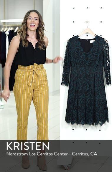 Lace V-Neck Fit & Flare Dress, sales video thumbnail