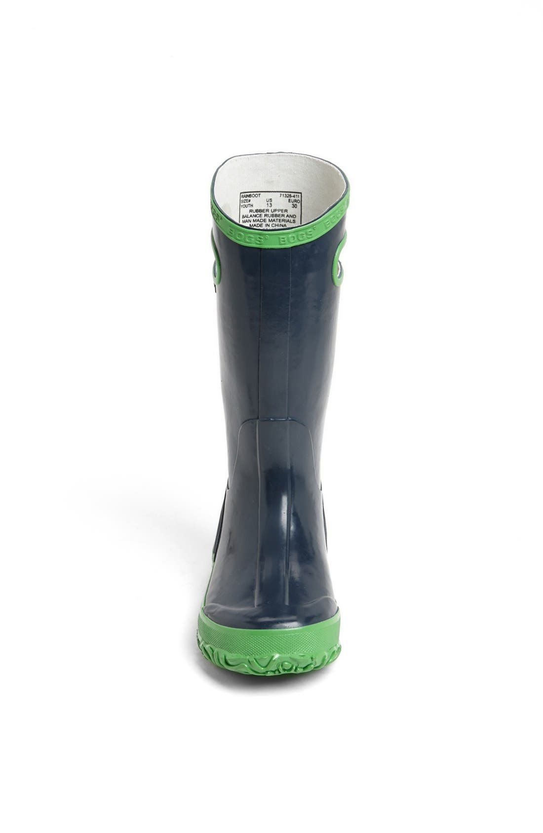 BOGS, Rubber Rain Boot, Alternate thumbnail 2, color, NAVY/ GREEN