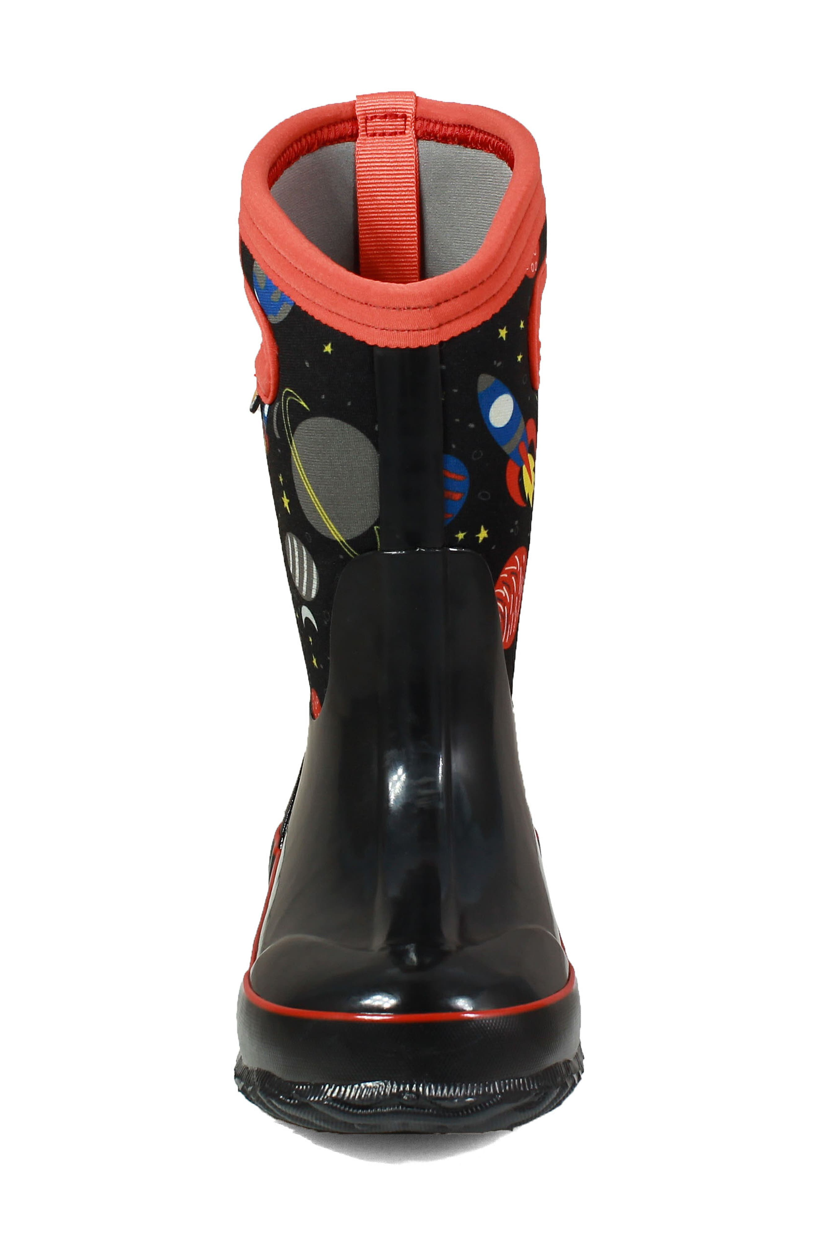 BOGS, Classic Space Insulationed Waterproof Rain Boot, Alternate thumbnail 4, color, 009