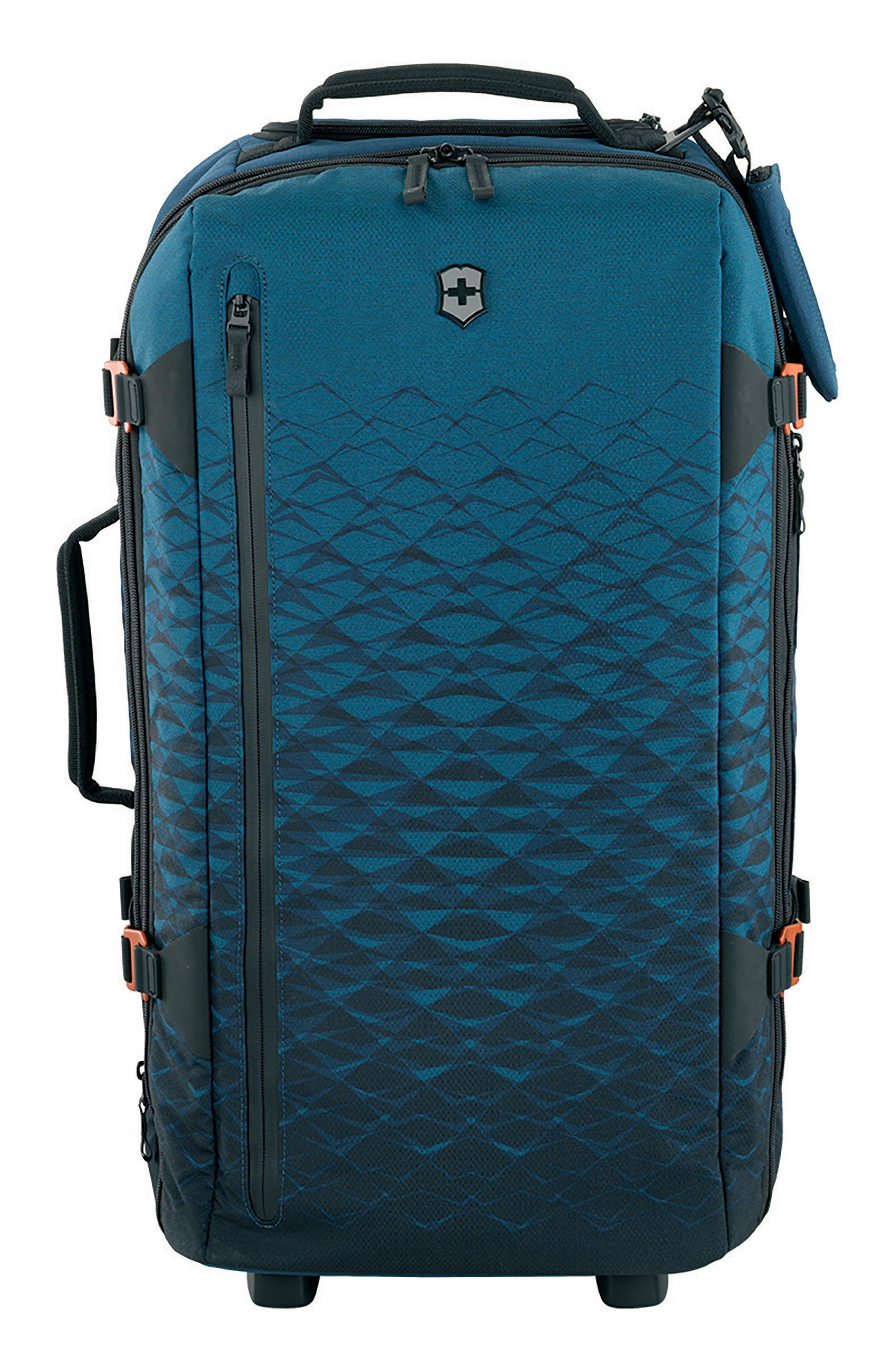VICTORINOX SWISS ARMY<SUP>®</SUP>, VX Touring Medium 26-Inch Wheeled Duffle Bag, Main thumbnail 1, color, DARK TEAL