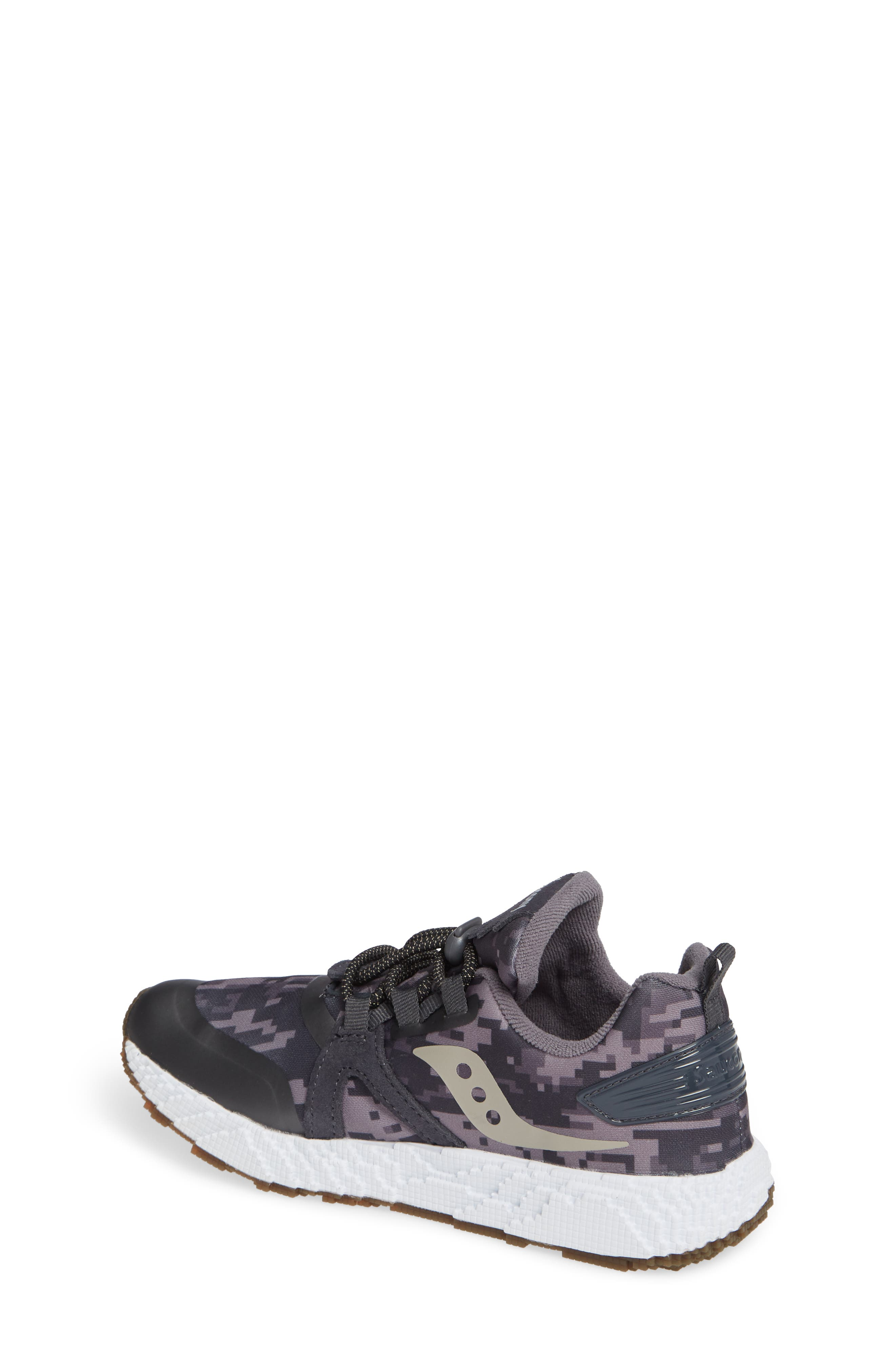 SAUCONY, Voxel 9000 Sneaker, Alternate thumbnail 2, color, GREY LEATHER/ MESH