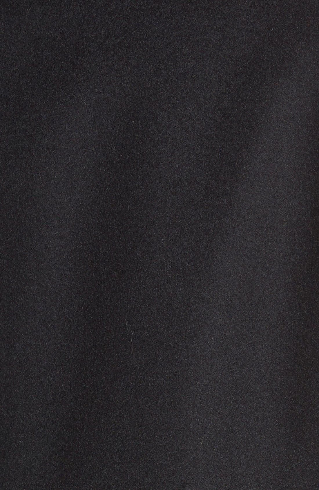 KRISTEN BLAKE, Single Breasted Wool Blend Coat, Alternate thumbnail 3, color, 001