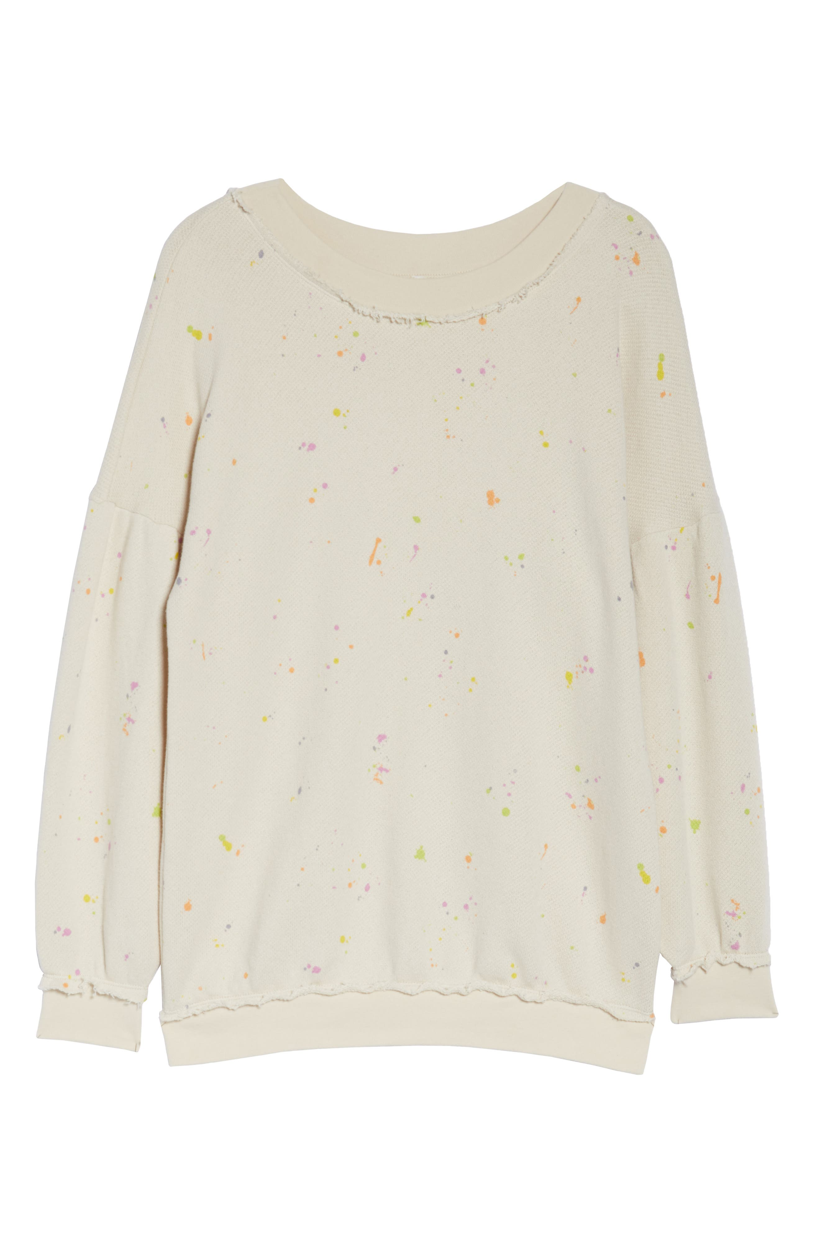 FREE PEOPLE MOVEMENT, Make It Count Printed Sweatshirt, Alternate thumbnail 7, color, IVORY