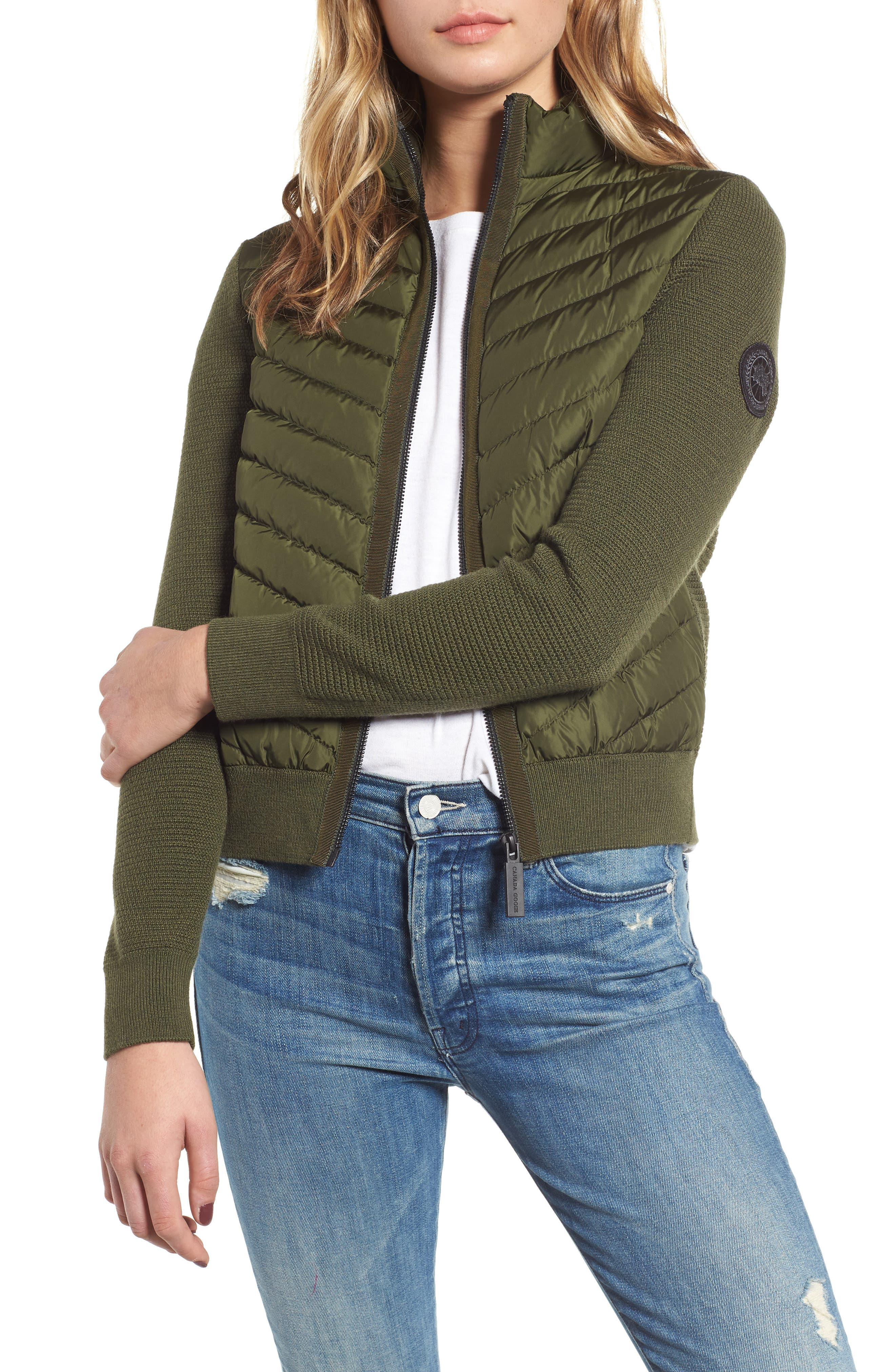 Canada Goose Hybridge Quilted & Knit Jacket, (2-4) - Green