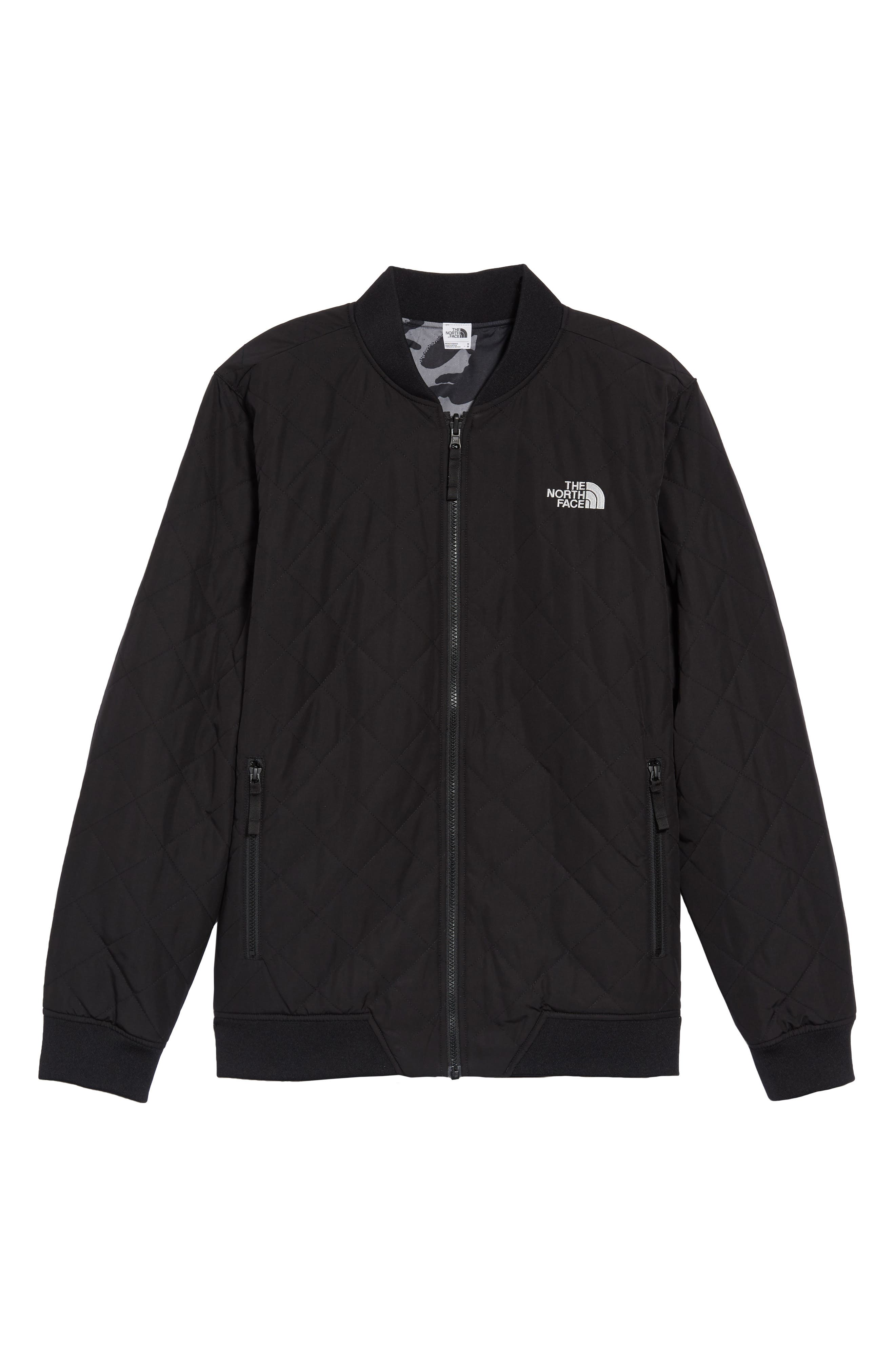 THE NORTH FACE, Jester Reversible Bomber Jacket, Alternate thumbnail 7, color, 001