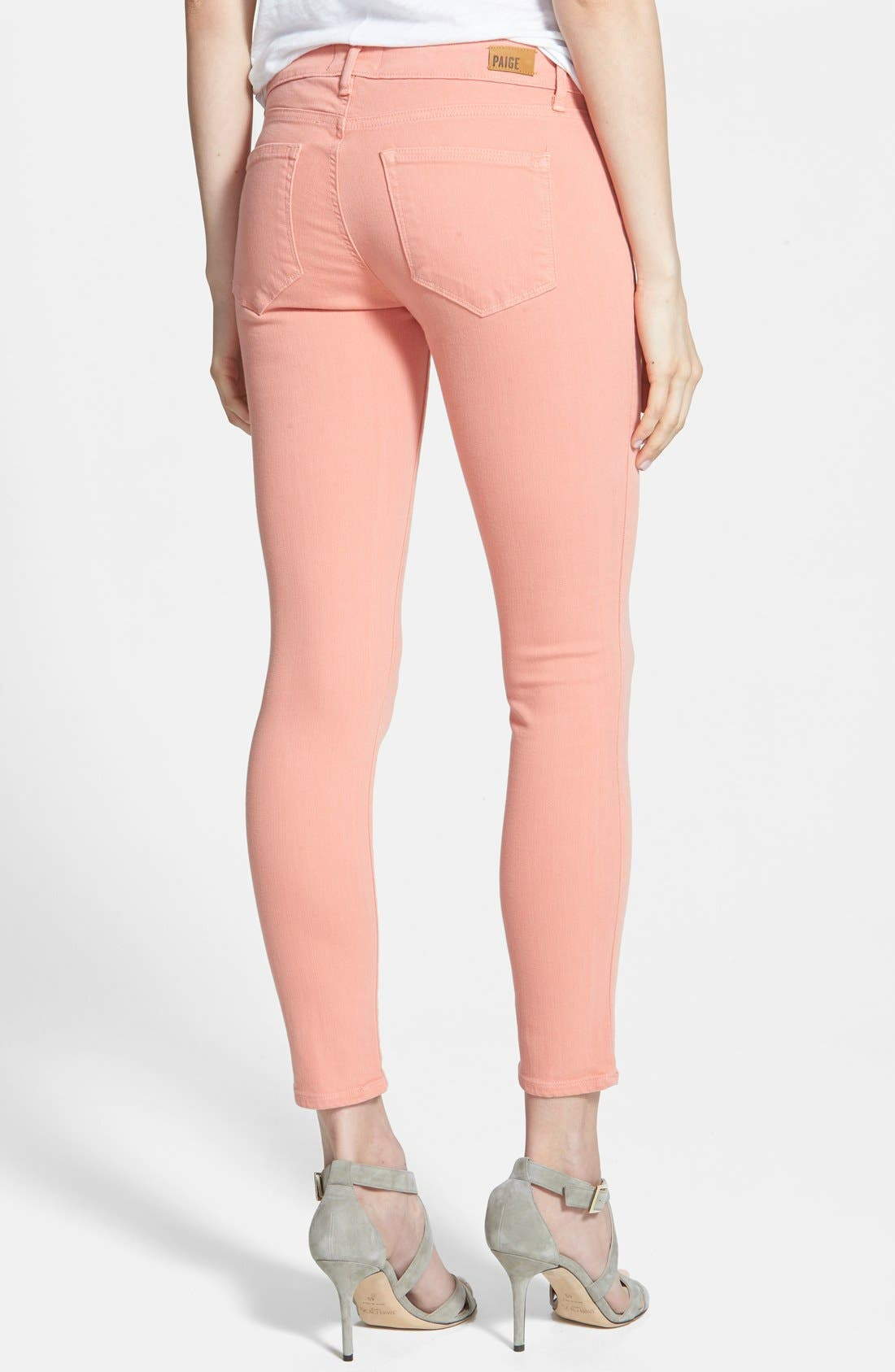 PAIGE, Denim 'Verdugo' Ankle Super Skinny Jeans, Alternate thumbnail 2, color, 650