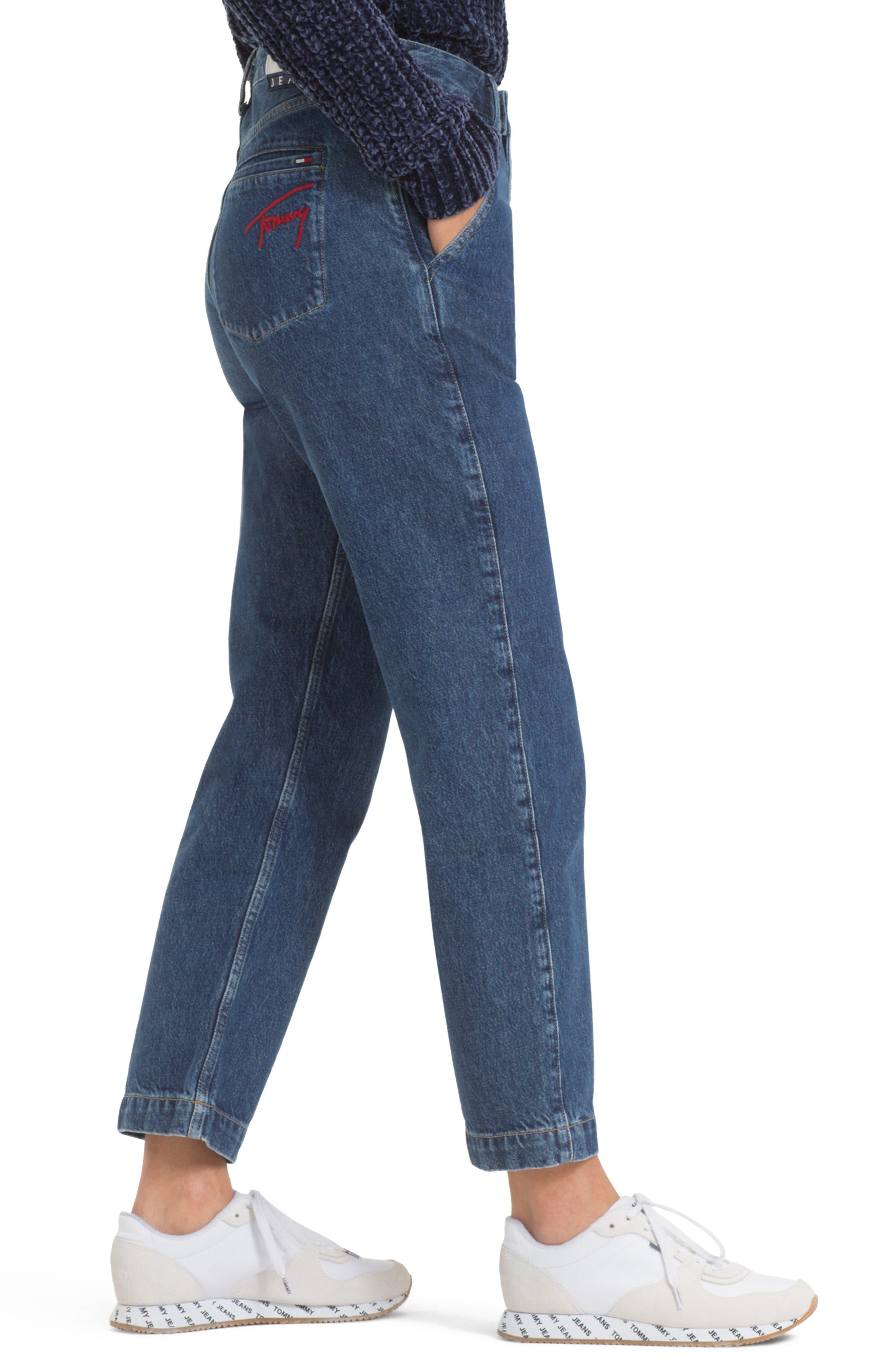 TOMMY JEANS, TJW Straight Leg Jeans, Alternate thumbnail 4, color, 400