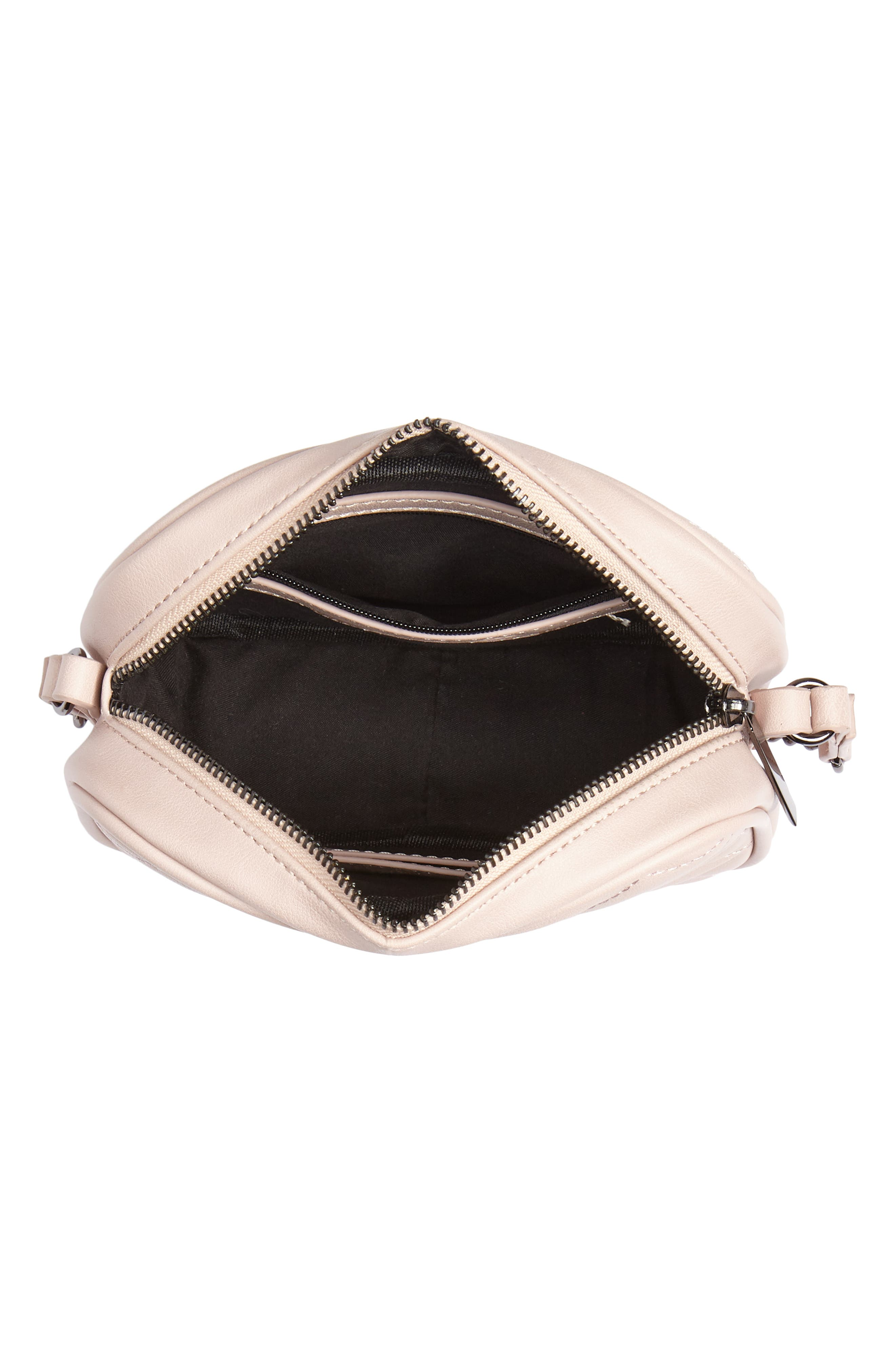 MALI + LILI, Taylor Quilted Vegan Leather Crossbody Camera Bag, Alternate thumbnail 5, color, 650