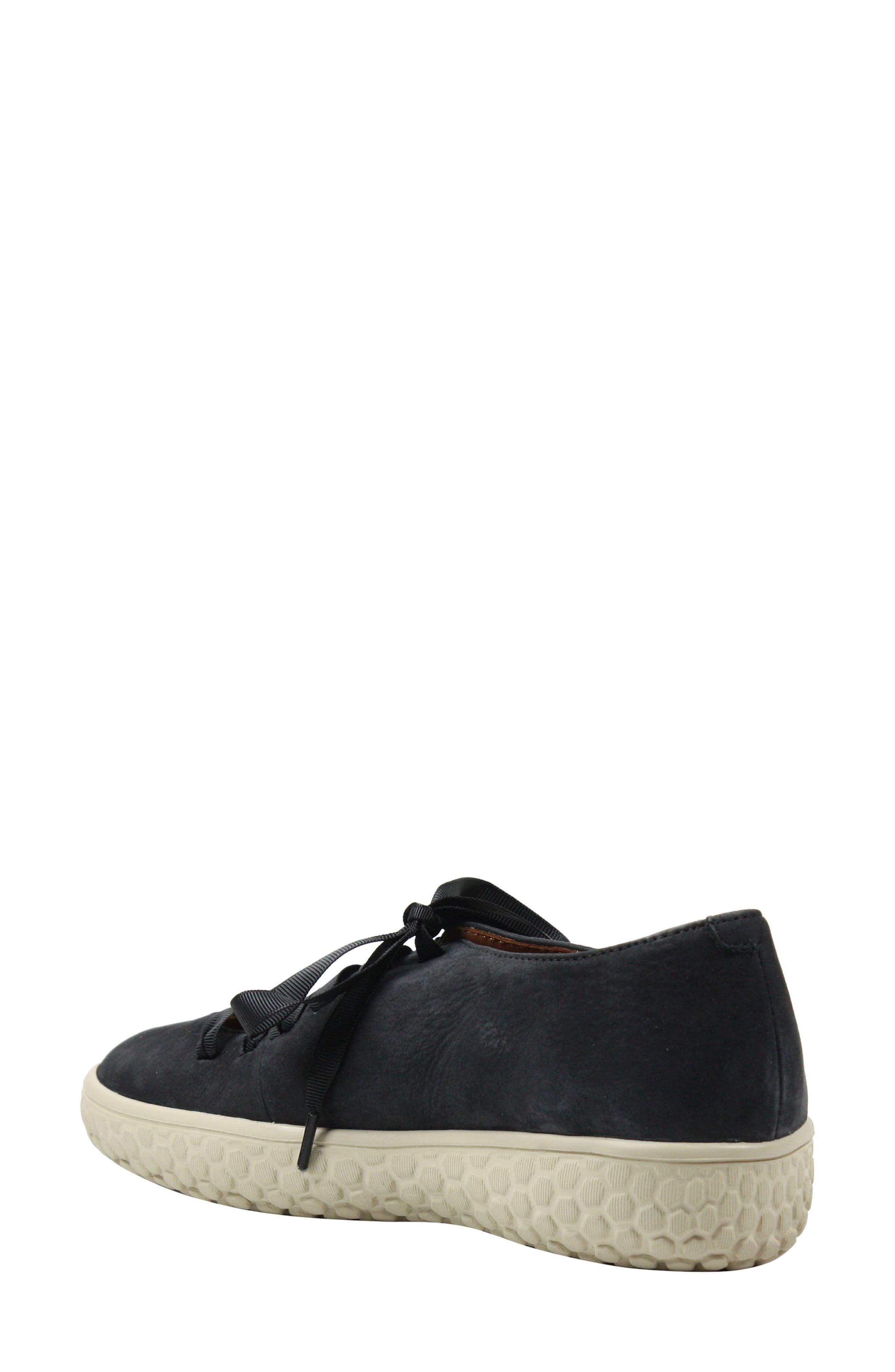 L'AMOUR DES PIEDS, Zaheera Sneaker, Alternate thumbnail 2, color, BLACK NUBUCK LEATHER