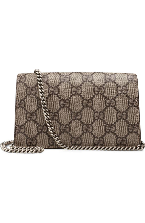 a69e728afdeb4 Gucci Super Mini Dionysus GG Supreme Canvas   Suede Shoulder Bag ...