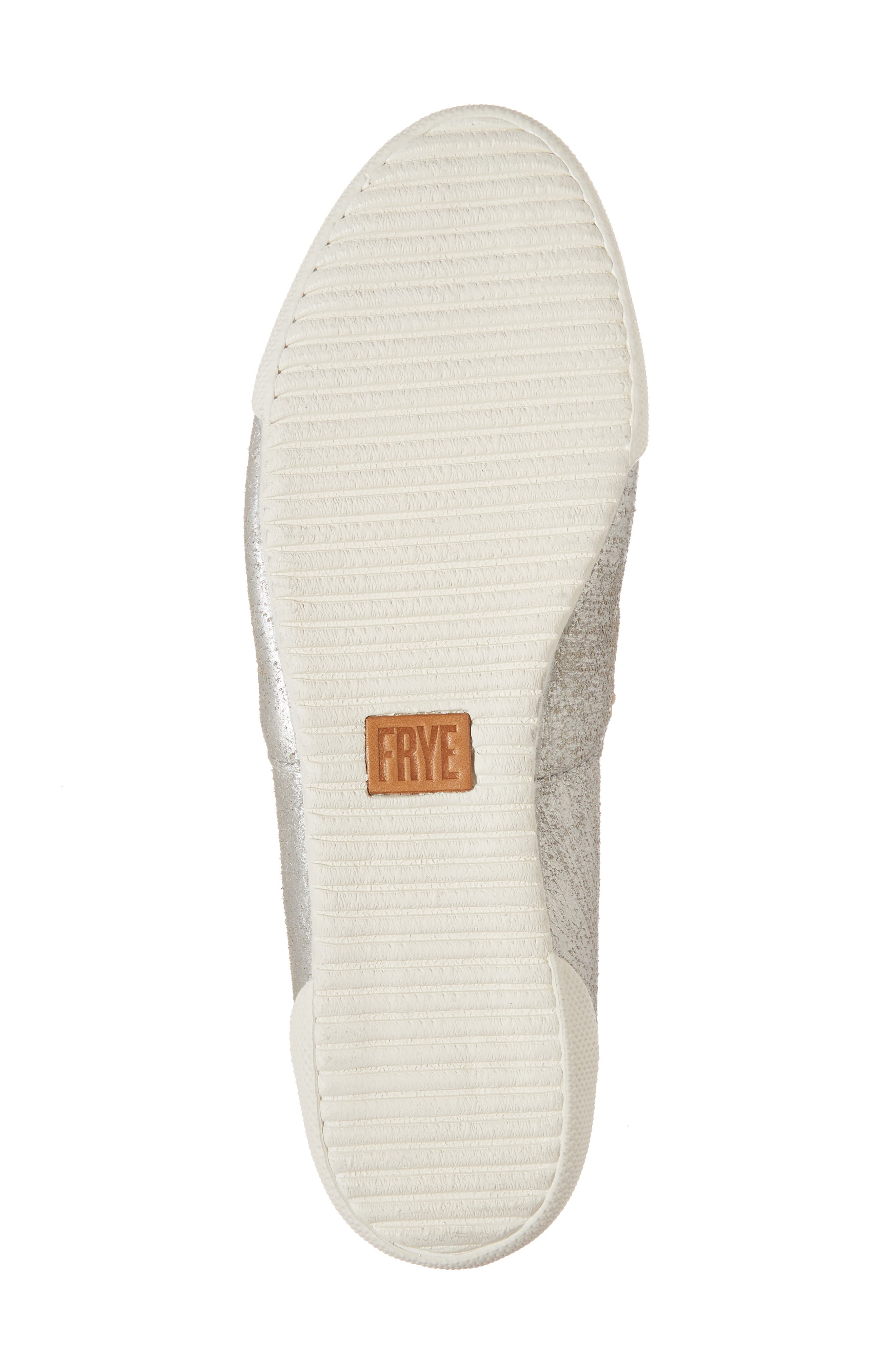 FRYE, 'Melanie' Slip-On, Alternate thumbnail 6, color, SILVER