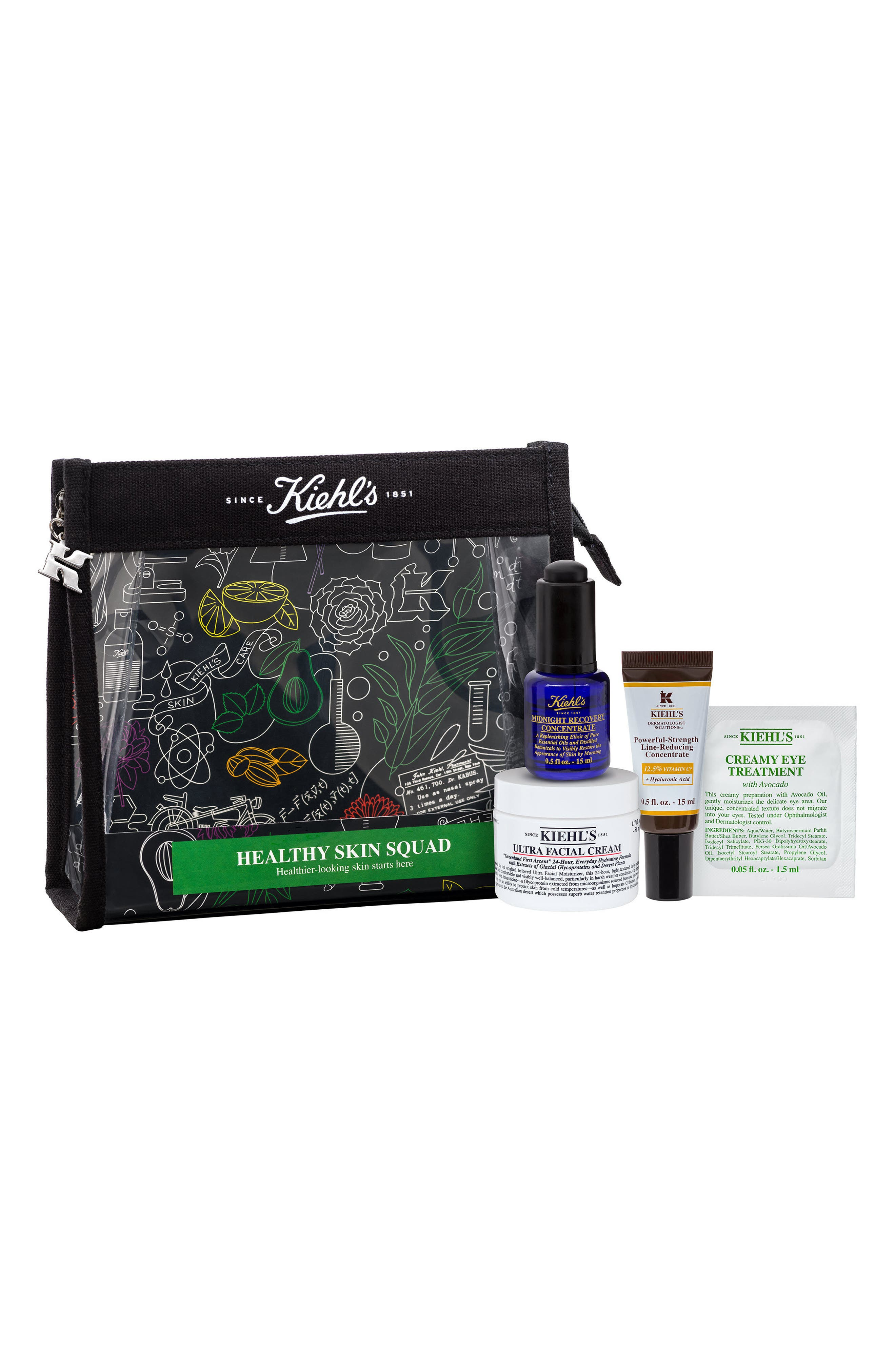 KIEHL'S SINCE 1851, Healthy Skin Squad Set, Alternate thumbnail 2, color, 000