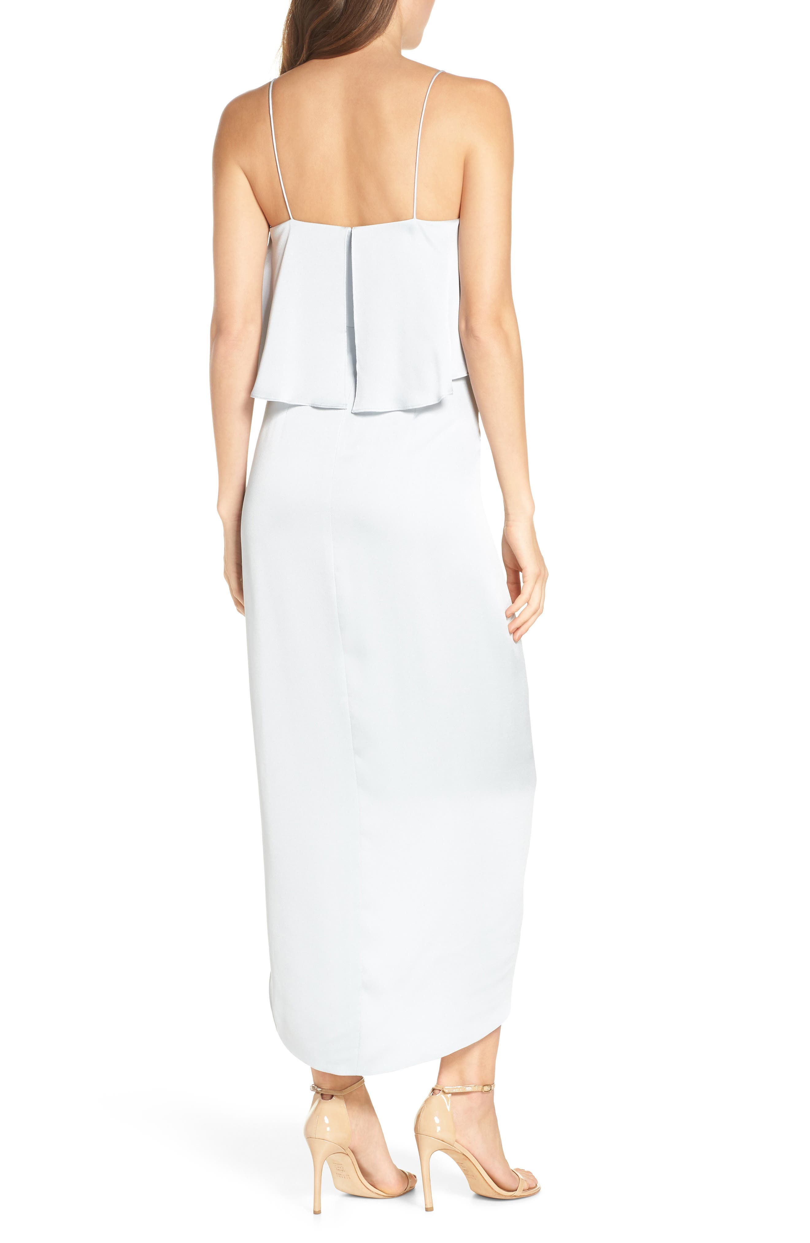 SHONA JOY, Luxe Frill Tulip Hem Maxi Dress, Alternate thumbnail 2, color, CLOUD