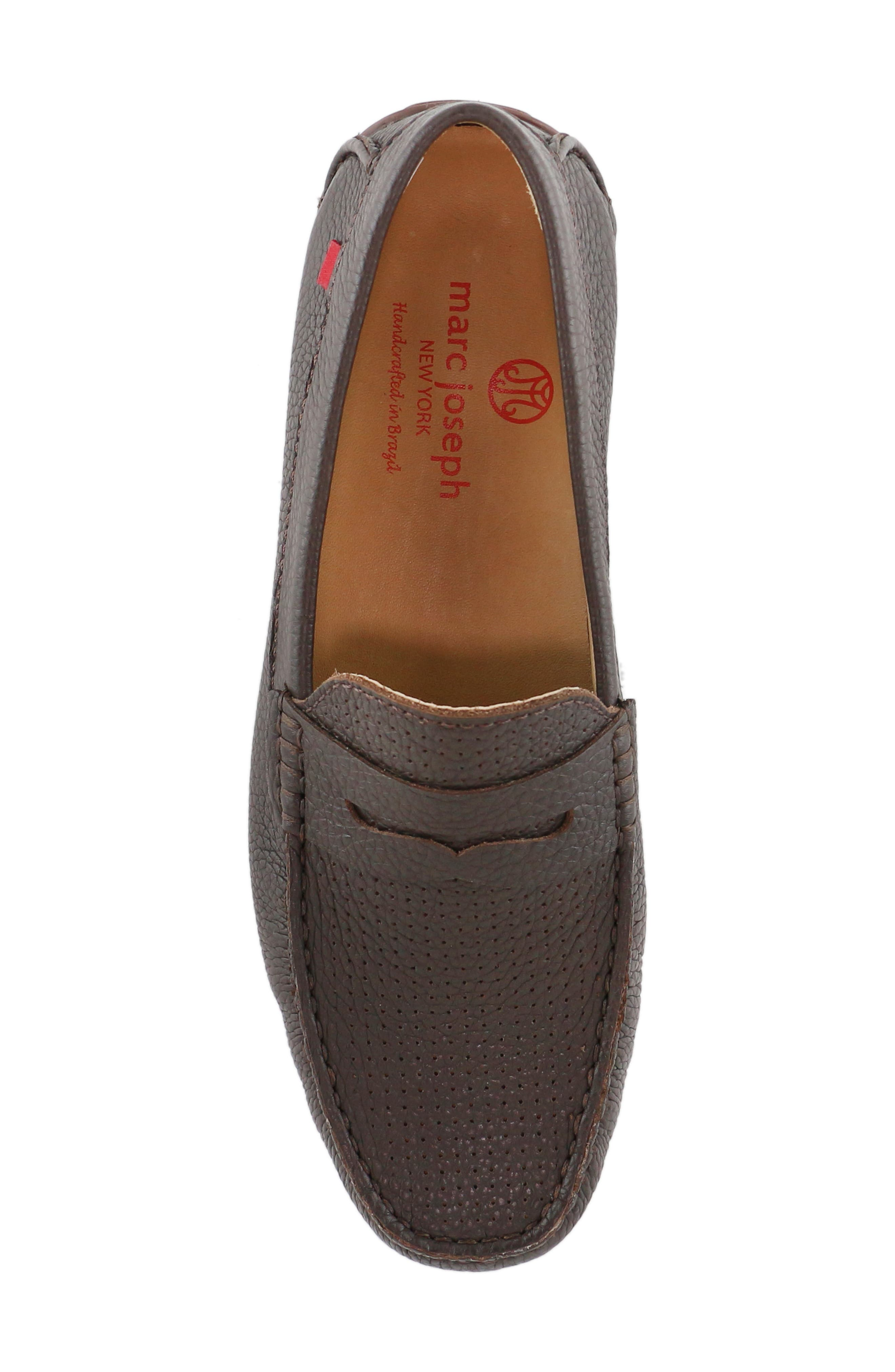 MARC JOSEPH NEW YORK, 'Union Street' Penny Loafer, Alternate thumbnail 5, color, BROWN GRAINY LEATHER