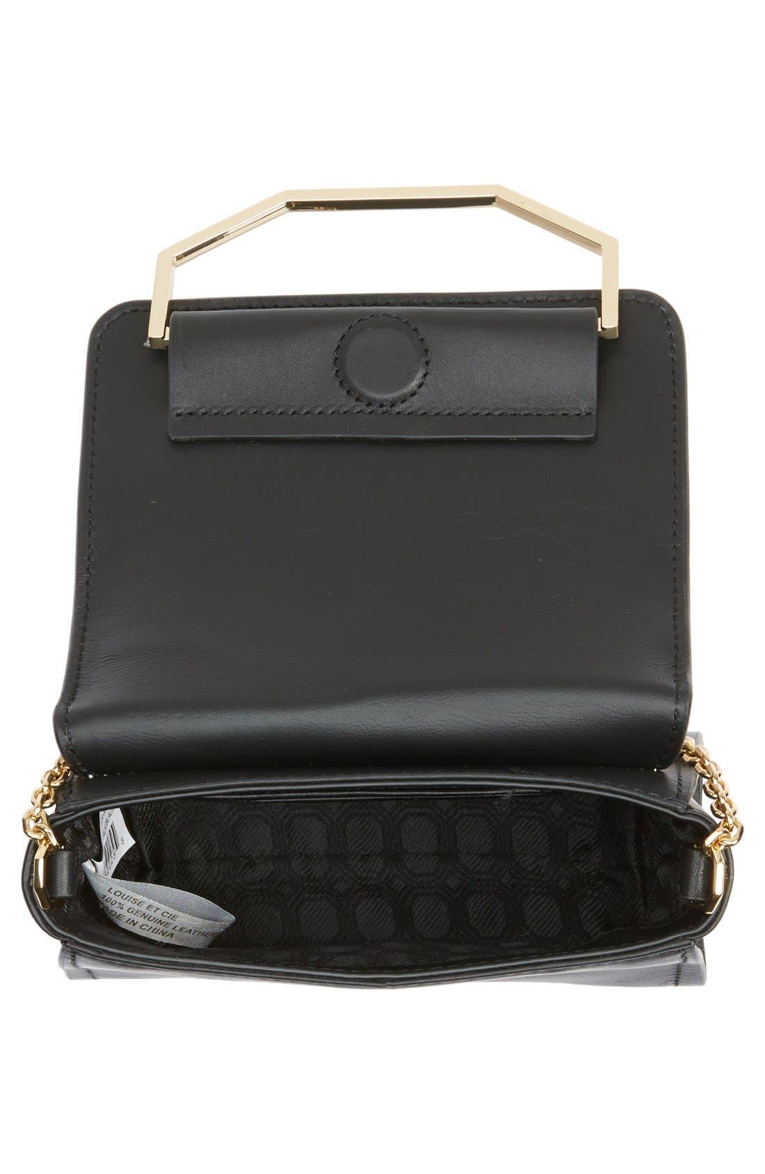 LOUISE ET CIE, 'Towa Micro' Colorblock Leather Bag, Alternate thumbnail 3, color, 100