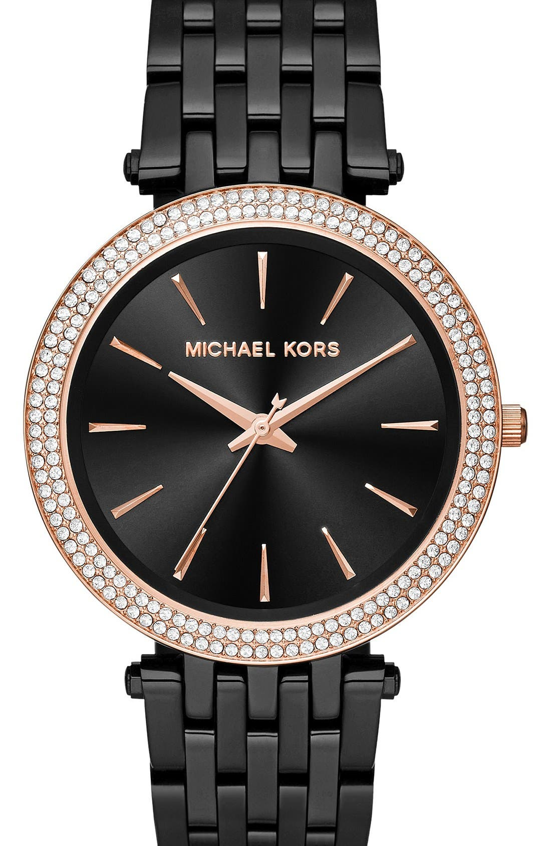 MICHAEL KORS, 'Darci' Round Bracelet Watch, 39mm, Main thumbnail 1, color, 001